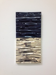 Alex Weinstein, S  well Model , 2013, Fiberglass, silver, automotive paint, 28 x 14 x 2 inches