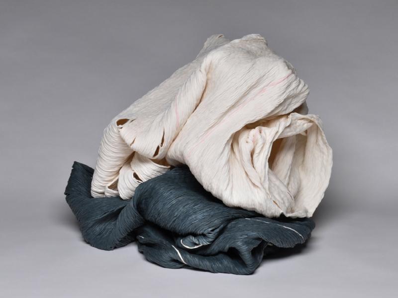 Cheryl Ann Thomas,    Pure,  2017, Hand-coiled porcelain ceramic, 16 1/2 x 22 x 19 inches