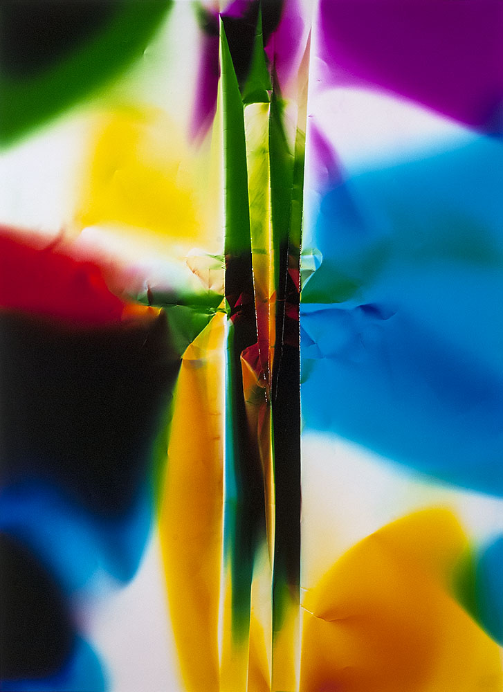 Ellen Carey ,  Caesura , 2016, Unique color photogram c-print, 40 x 30 inches, 45 1/2 x 34 1/2 inches frame