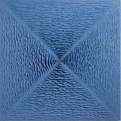 Martin Kline,   Corsage Paysage , 2018, Encaustic on panel, 40 x 40 x 3 inches