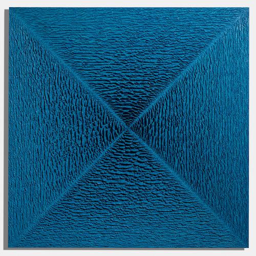 Martin Kline,  Lancelot,  2018, encaustic on panel, 60 x 60 x 4 inches