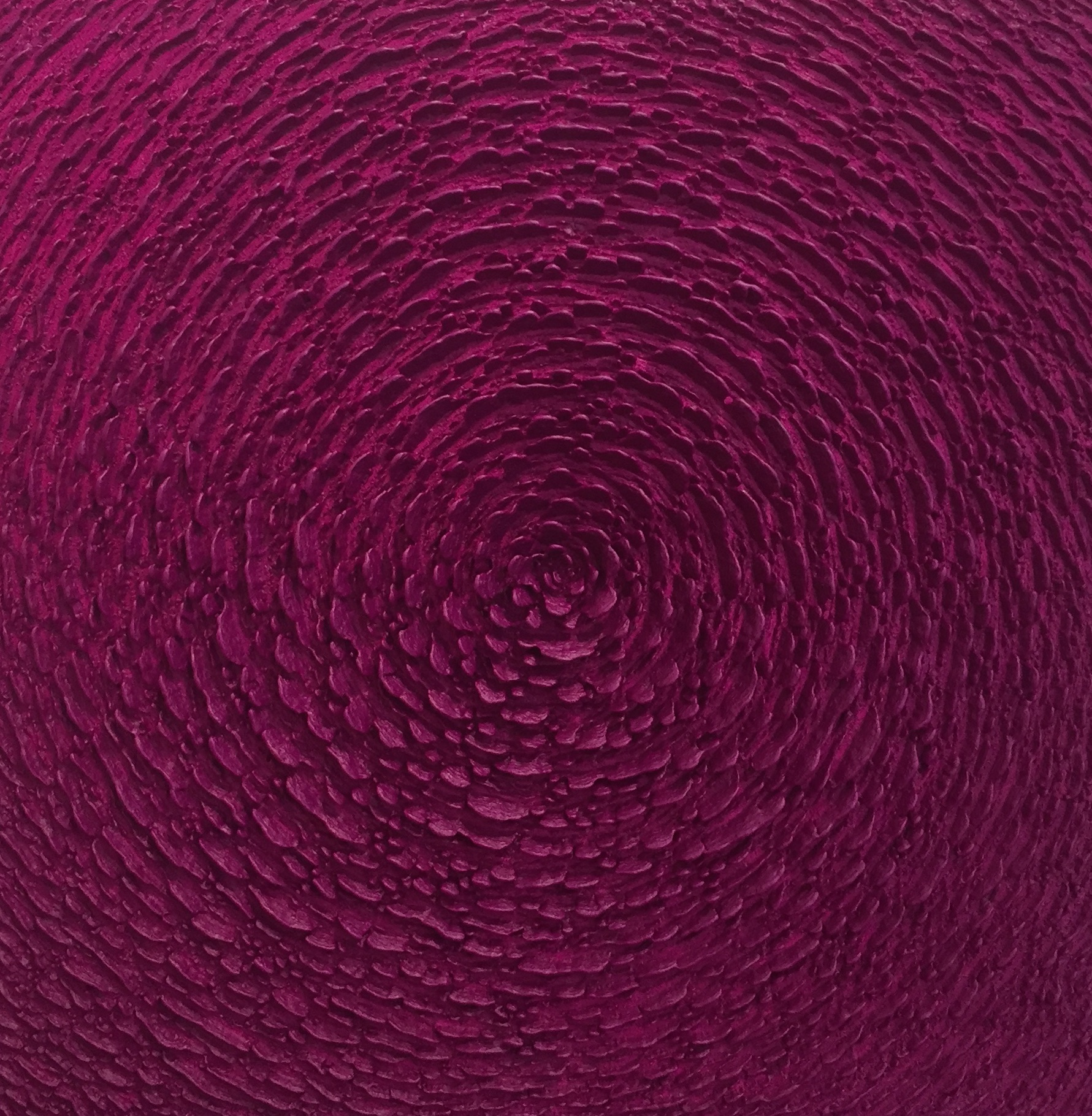 Martin Kline,  Cobalt Violet Bloom,  2017, encaustic on canvas, 36 x 36 x 3 1/2 inches