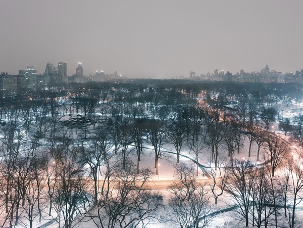 Central Park Winter Night , 2014, archival pigment print, 44 x 57 inches, edition of 9