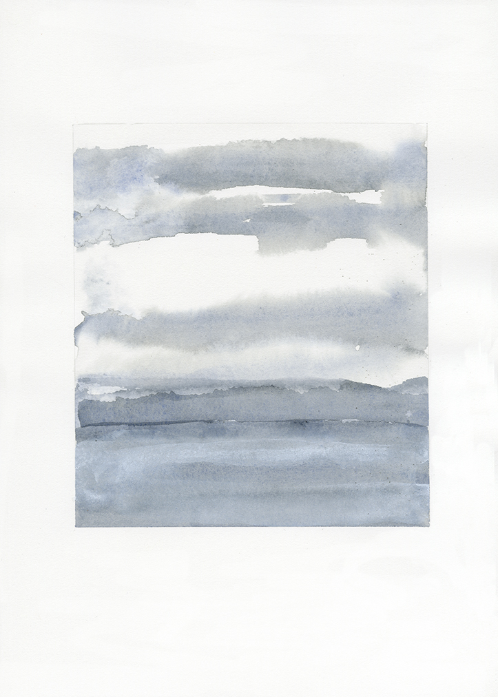 Sea (26) , 2015, Watercolor on paper, 17 x 15 7/8 inches frame