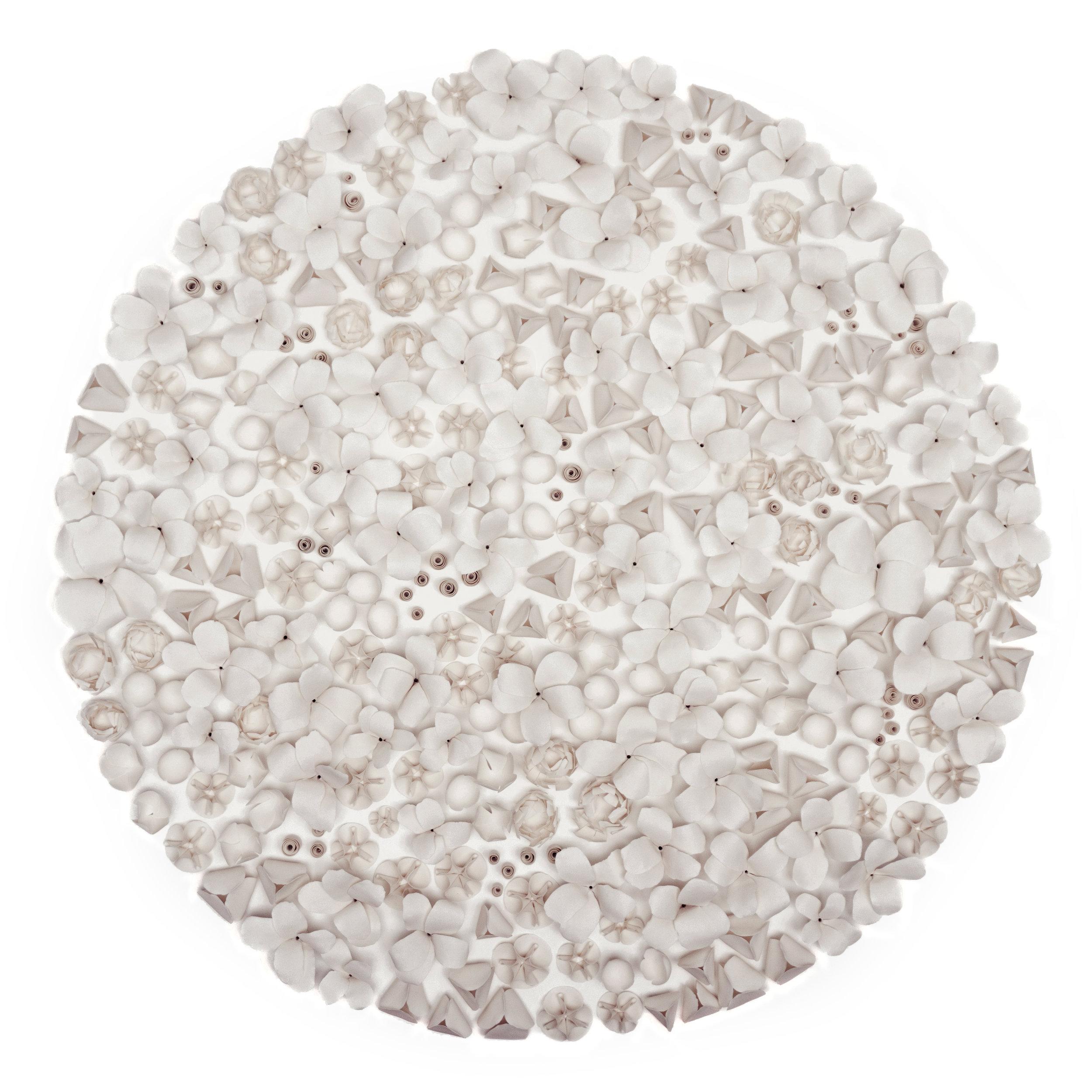 Flora , 2019, Porcelain, 47 1/4 x 47 1/4 inches