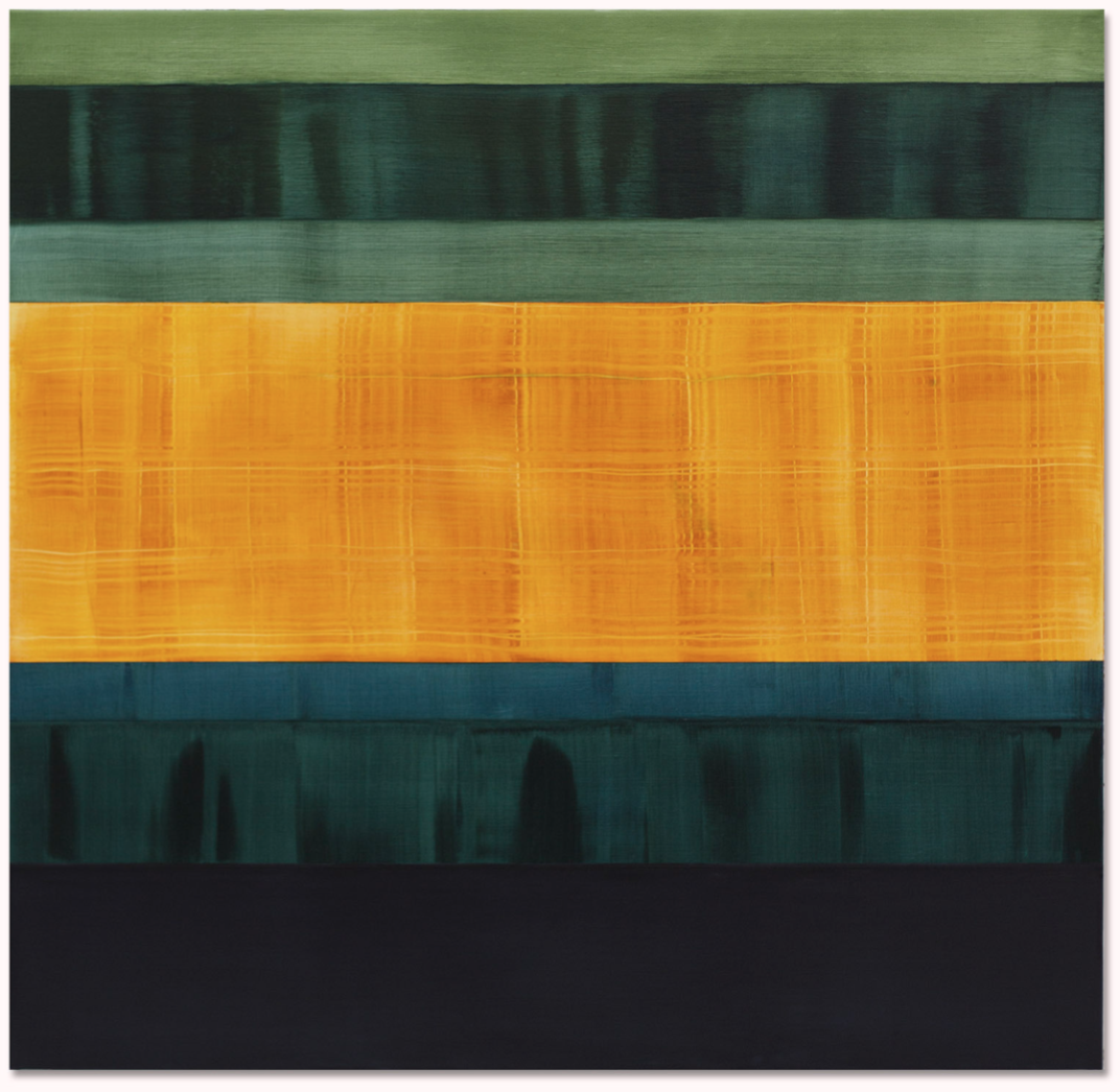 Composition in Greens 2 , 2014, Oil on linen, 71 x 73 inches