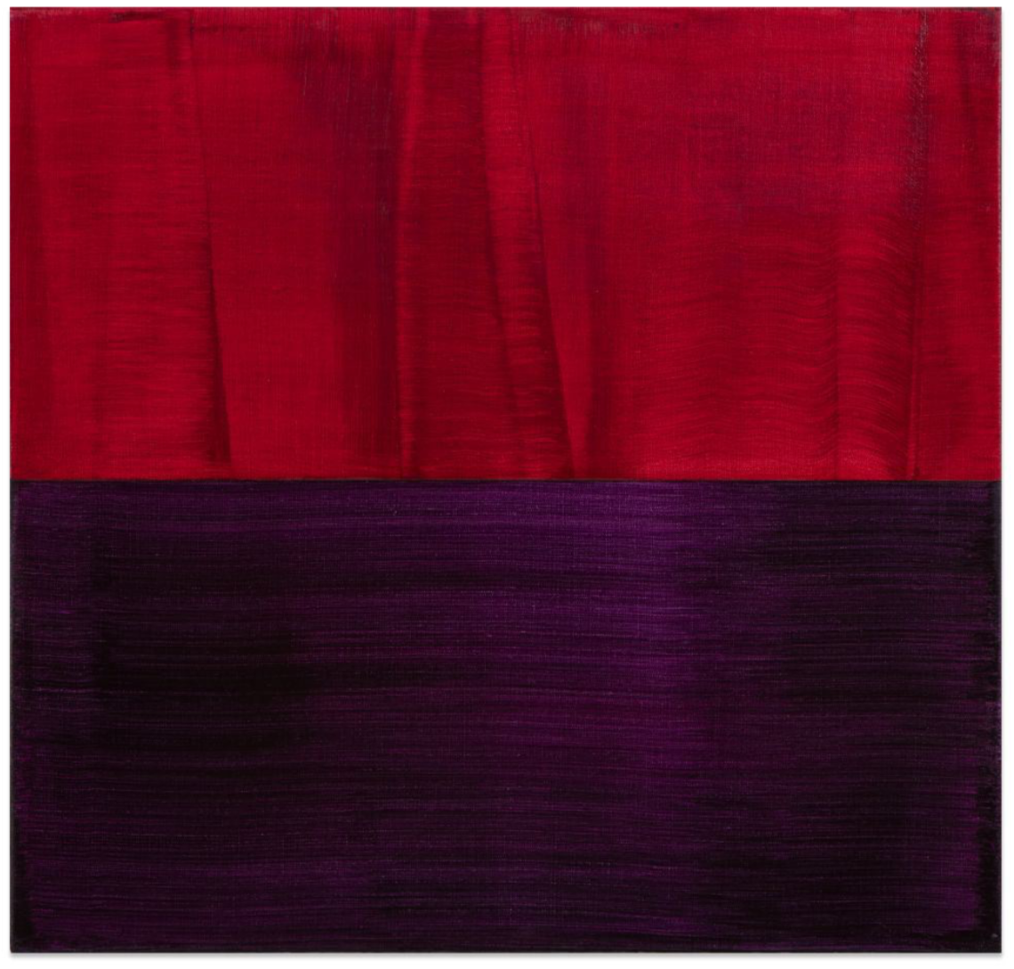 Red and Violet Blue 1 , 2016, Oil on linen, 23 x 24 inches