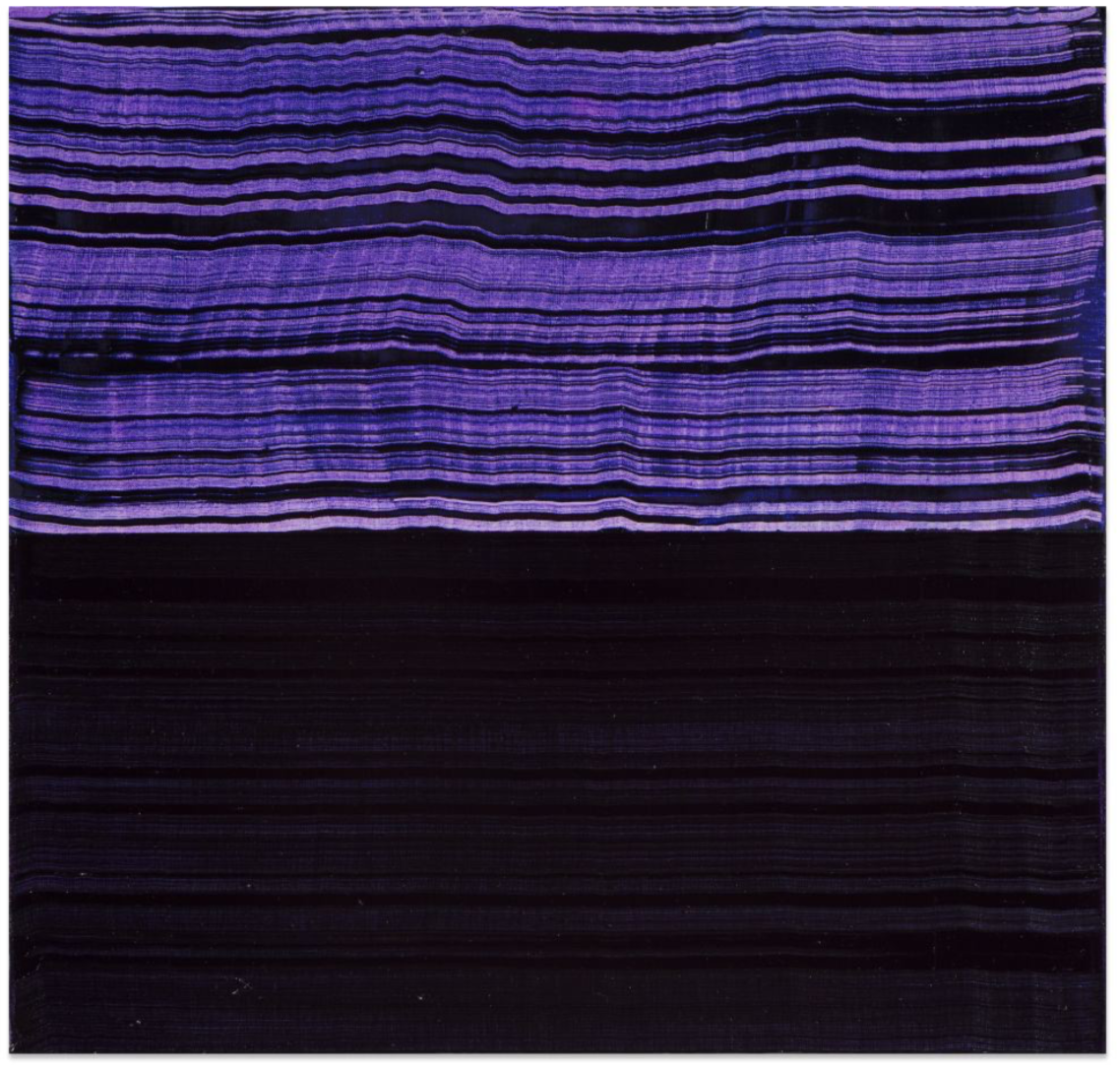 Violet Blue and Black 1 , 2016, Oil on linen, 23 x 24 inches