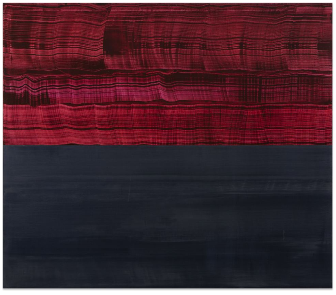 Violet and Steel Grey , 2016, Oil on linen, 71 x 82 inches