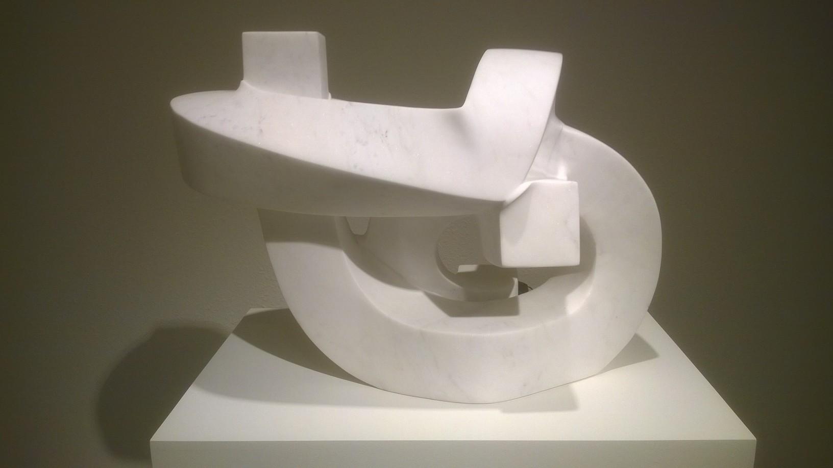 Paul Bloch,   White Ribbons,  Carrara marble, 20 x 28 x 18 inches