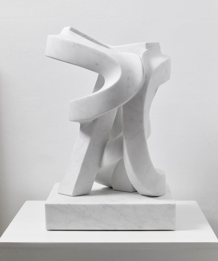 Paul Bloch,   La Nascita , 2014, Carrara marble, 24 x 15 x 15 inches