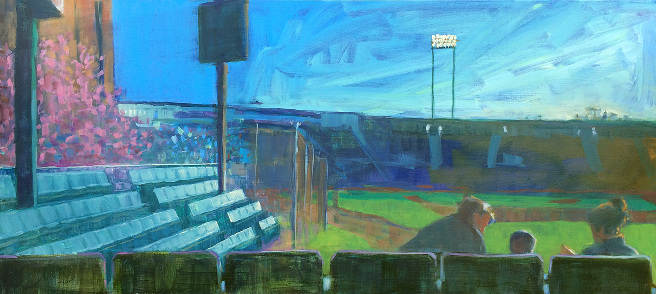 "His Spring Training , 10"" x 22"""