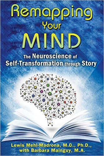 Remapping Your Mind: The Neuroscience of Self-Transformation through Story, By:   Lewis Mehl-Madrona M.D. Ph.  D. & Barbara Malnguy .      Applying the latest neuroscience research on memory, brain mapping, and brain plasticity to the field of narrative therapy, Lewis Mehl-Madrona and Barbara Mainguy explain how the brain is specialized in the art of story-making and story-telling. They detail mind-mapping and narrative therapy techniques that use story to change behavior patterns in ourselves, our relationships, and our communities. They explore studies that reveal how memory works through story, how the brain recalls things in narrative rather than lists, and how our stories modify our physiology and facilitate health or disease. Drawing on their decades of experience in narrative therapy, the authors examine the art of helping people to change their story, providing brain-mapping practices to discover your inner storyteller and test if the stories you are living are functional or dysfunctional, healing or destructive. They explain how to create new characters and new stories, ones that excite you, help you connect with yourself, and deepen your intimate connections with others.