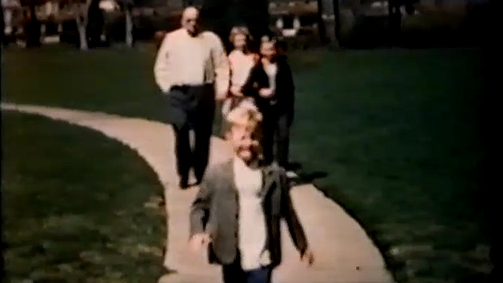Young Ray heading to church with his parents