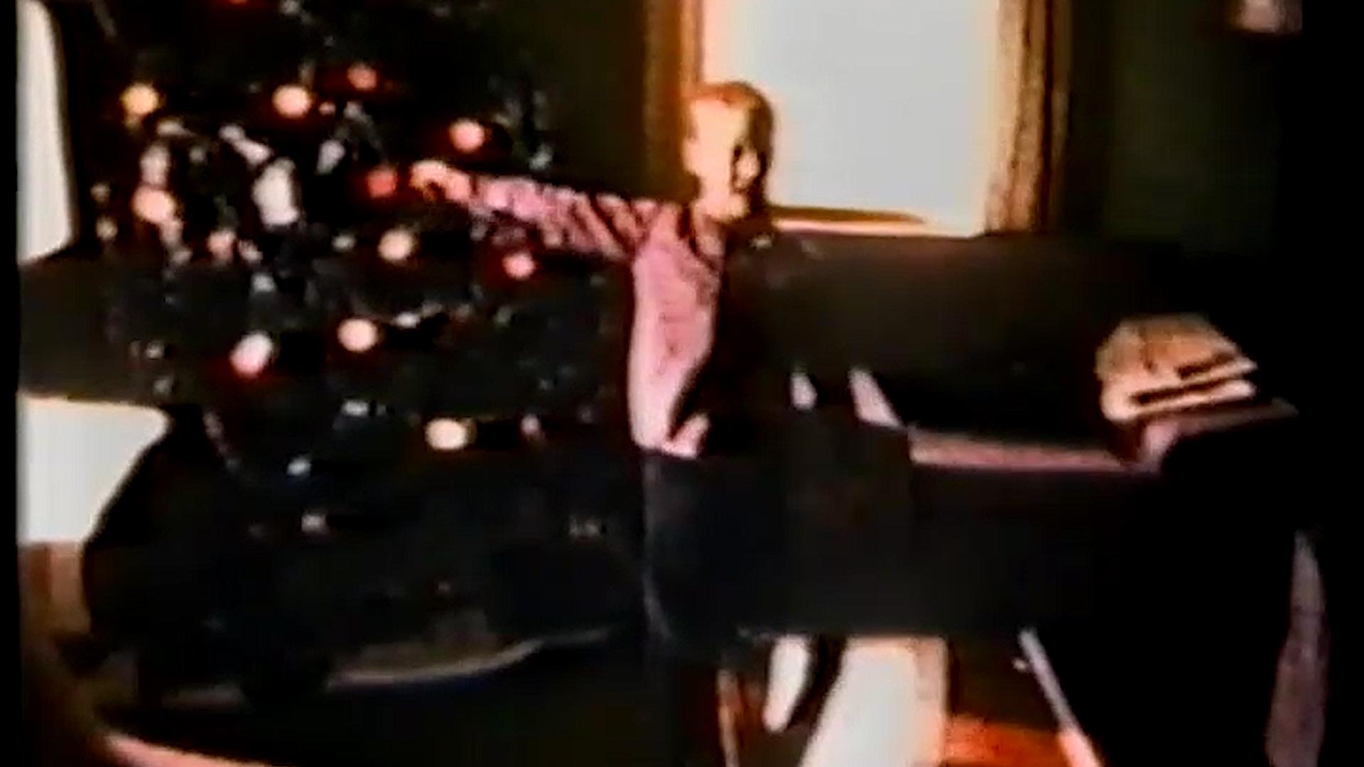 Young Ray at Christmas