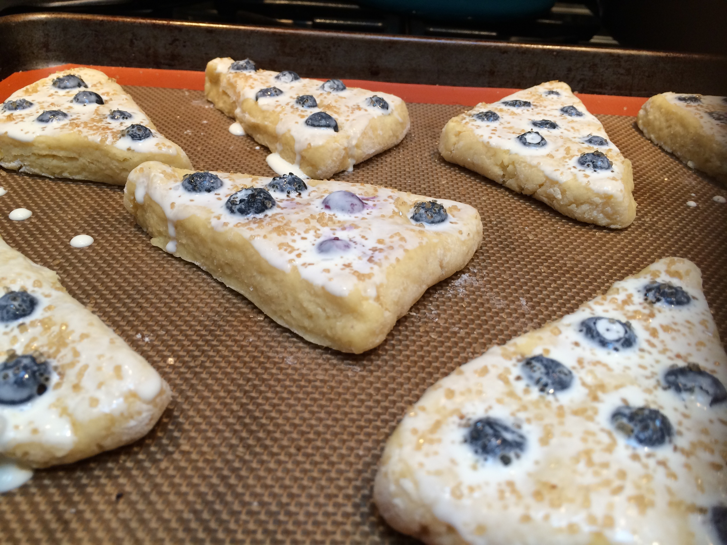 When you smell the first sweet  scent  of spring  in the air, you will find me with my head in the freezer, looking for the  last bit of  blueberries to make these  .