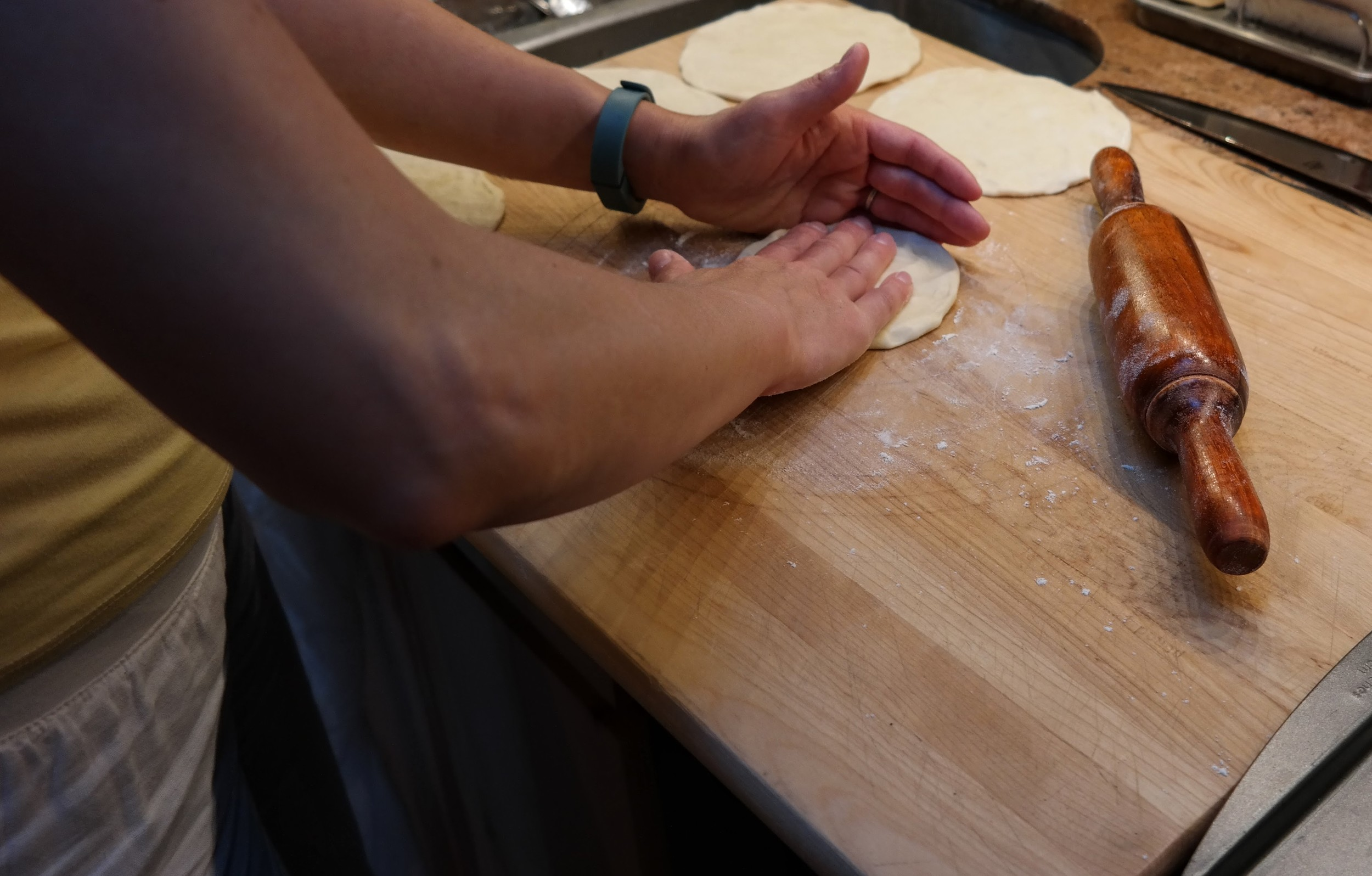 Rolling and shaping the dough
