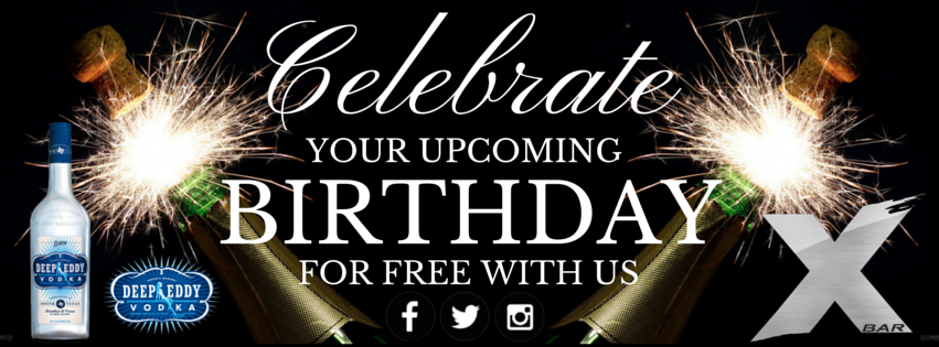 FREE VIP BIRTHDAY BOTTLE FROM DEEP EDDY VODKA