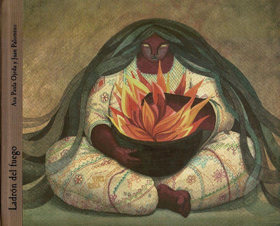 Dicen que luego de crearse el mundo, el tlacuache decidió ir en busca del fuego para regalárselo a los hombres y en la cima de una montaña, le robó una brasa a la Señora Lumbre. Las imágenes y los textos de este libro se basan en leyendas prehispánicas