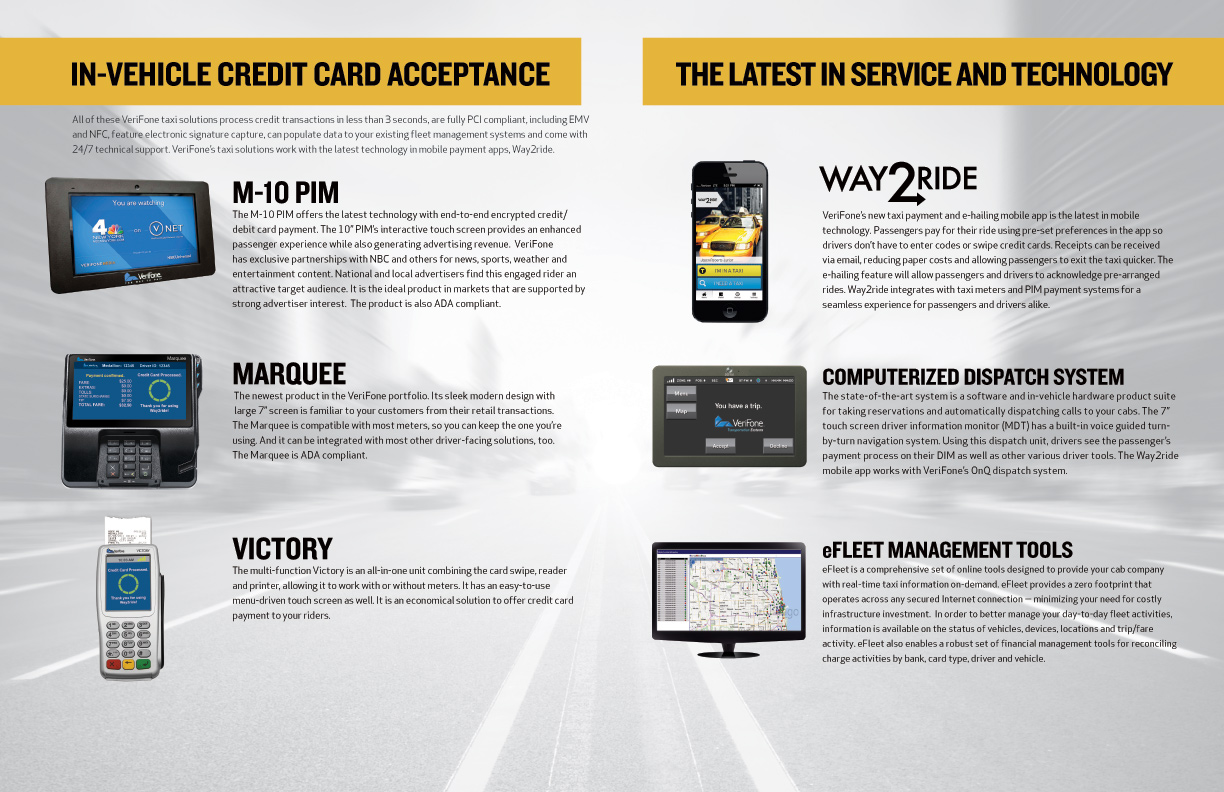 The inside of VeriFone's newly branded media kit  (Click To Enlarge)