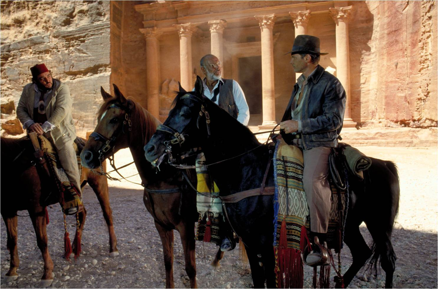 While I can't promise Rhys Davies, Sean Connery, and Harrison Ford will, or will not, be on this trip you can't risk not being able to hang with these dudes on a horse in front of the treasury at Petra, Jordan. Just sayin'