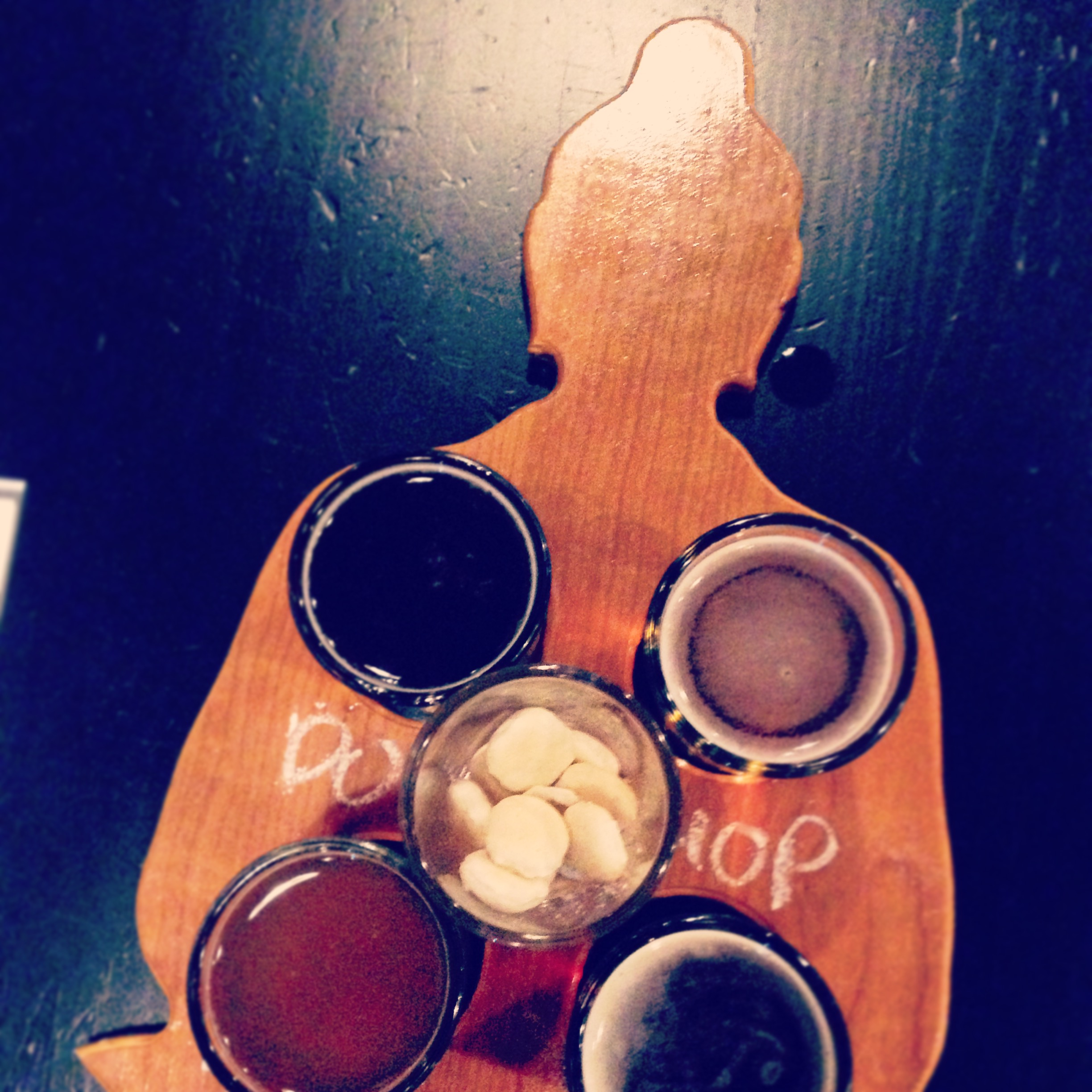 The Four Noble Tasters at Funky Buddha Brewery in Ft. Lauderdale, FL.