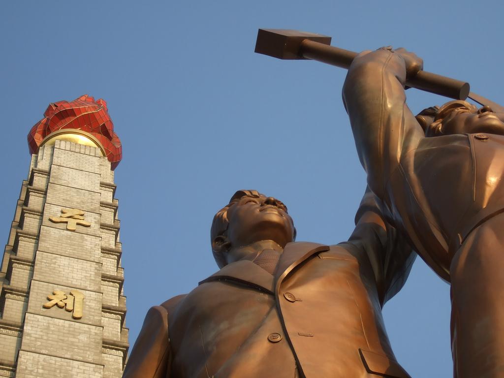 The Juche tower in Pyongyang, DPRK.