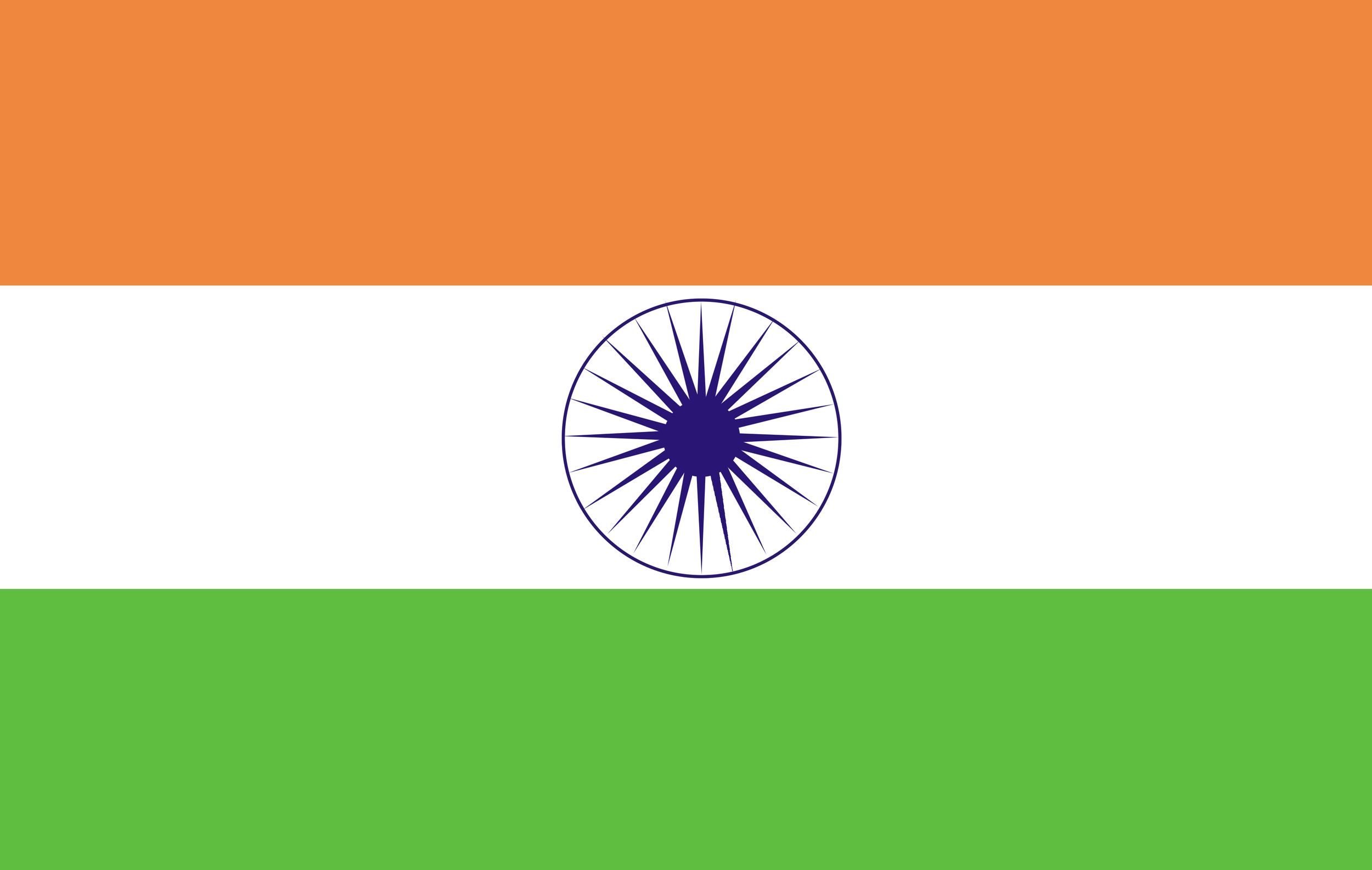 """The central symbol in the Indian flag is the  Ashoka Chakra, itself  a depiction of the  dharmachakra  ; represented with 24 spokes. According to Wikipedia, """"When  Buddha  achieved  nirvana  (Nibbana) at Gaya, he came to Sarnath on the outskirts of Varanasi. There he found his five disciples (panch vargiya Bhikshu) Ashwajeet, Mahanaam, Kaundinya, Bhadrak and Kashyap, who had earlier abandoned him. He preached his first sermon to them, thereby promulgating the  Dharmachakra  . This is the motif taken up by Ashoka and portrayed on top of his pillars."""""""