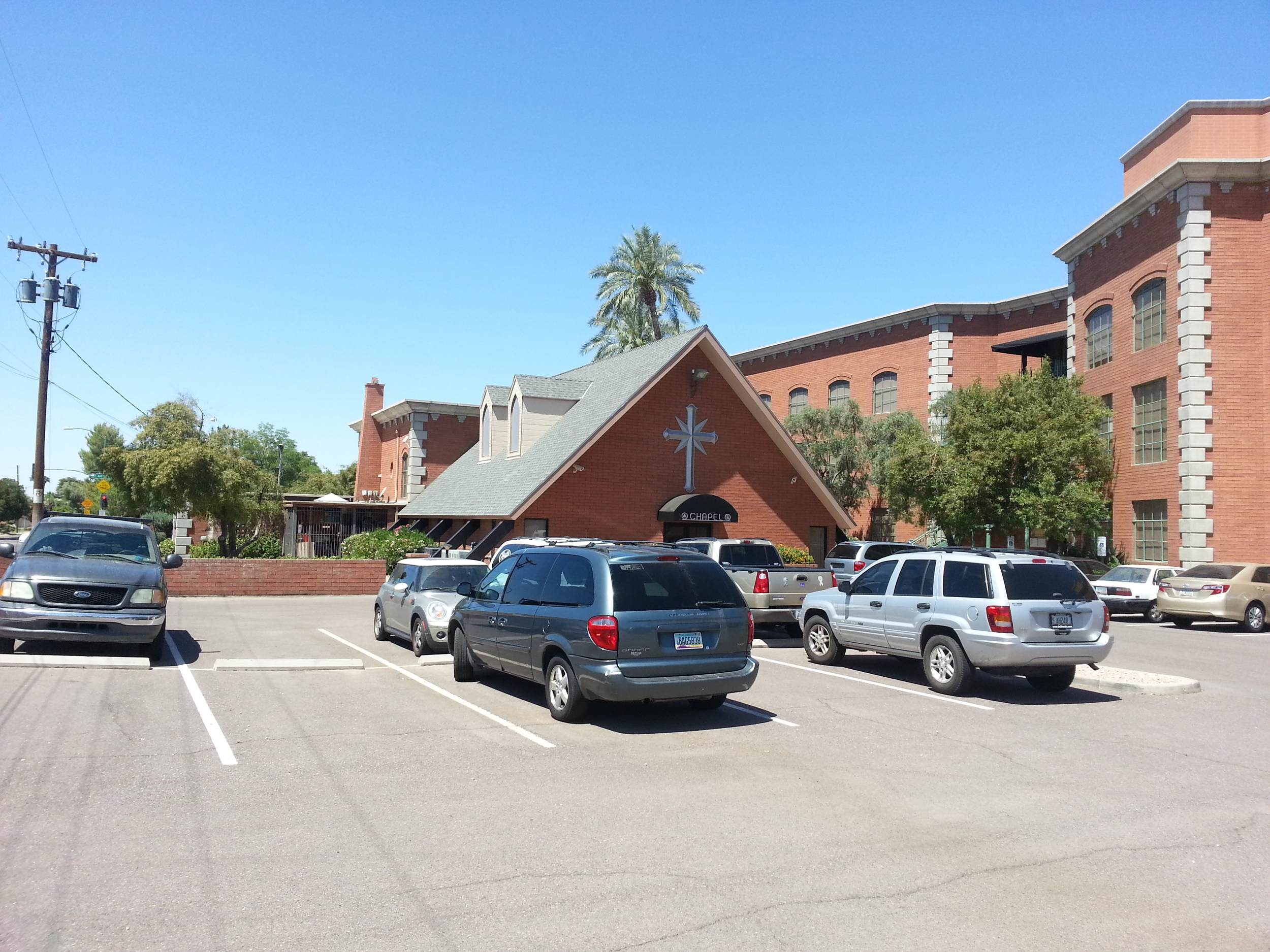 A picture from the backside of the Scientology Ideal Org in north Phoenix, AZ.