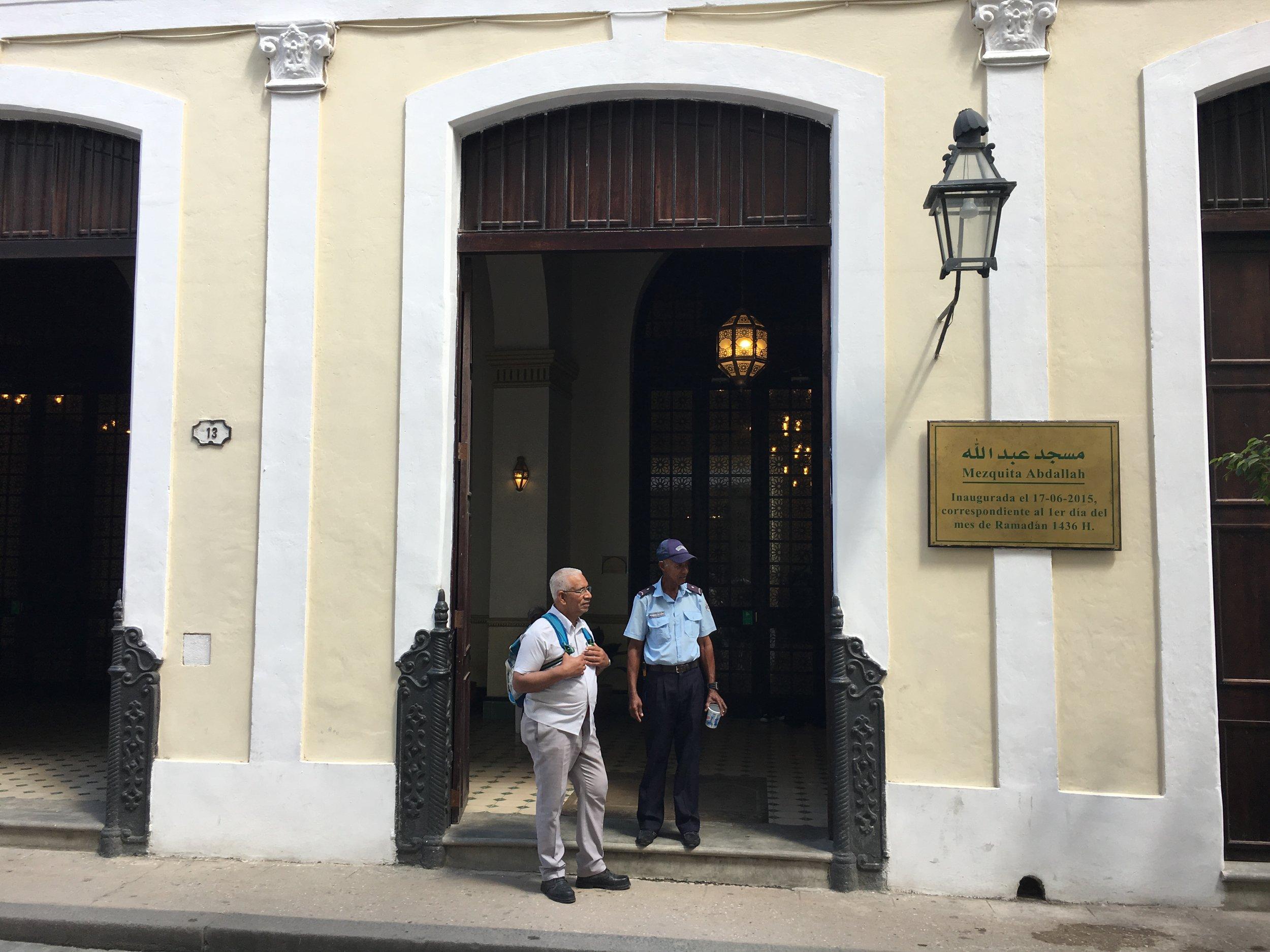 The entrance to Mezquita Abdallah in Havana, Cuba (PHOTO: Ken Chitwood).