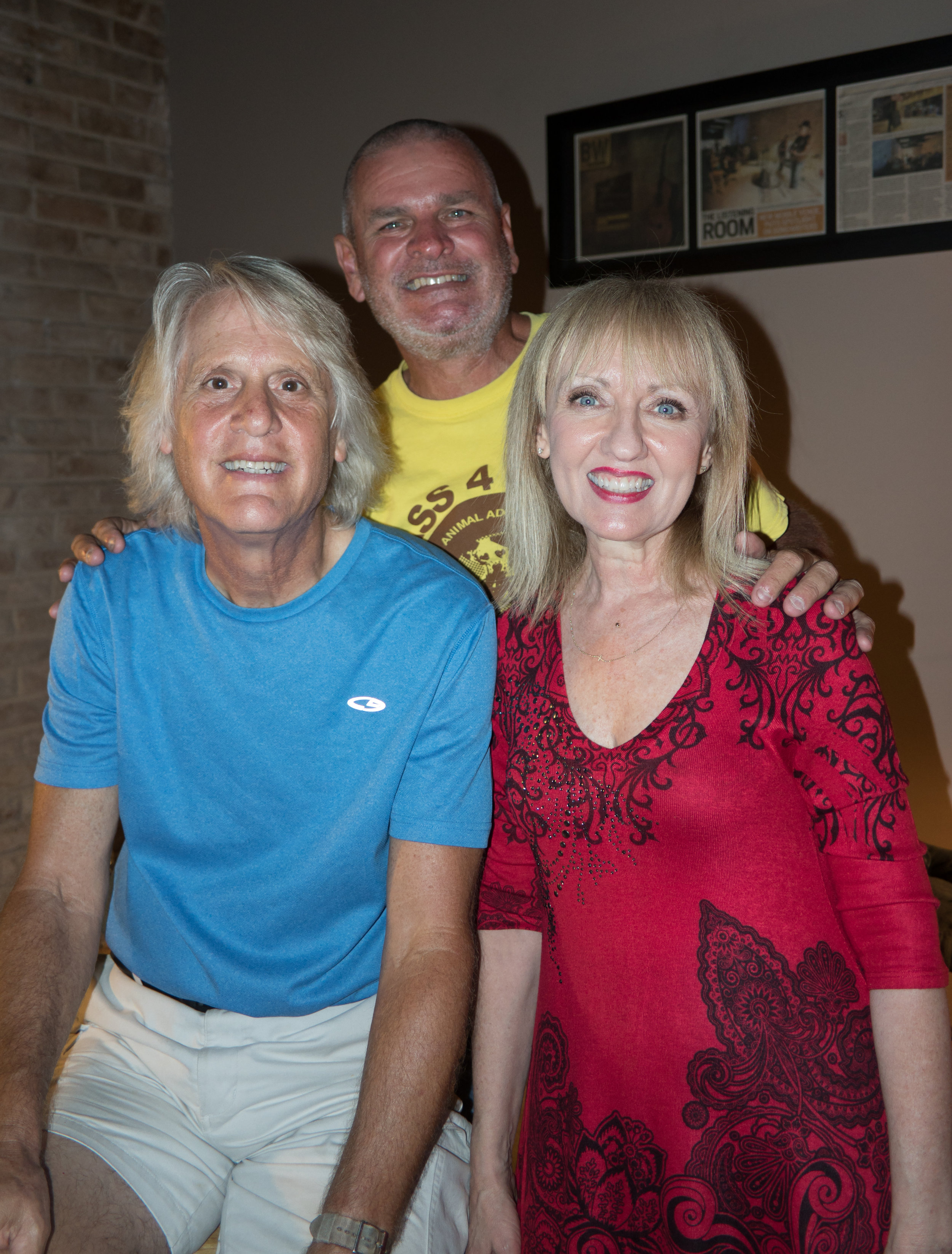 Angie and Mac with Jim Pennington