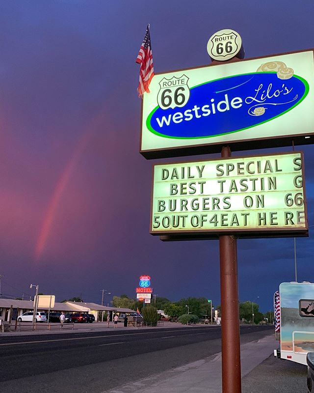 🌈 #Route66 California road tripping over the #rainbow