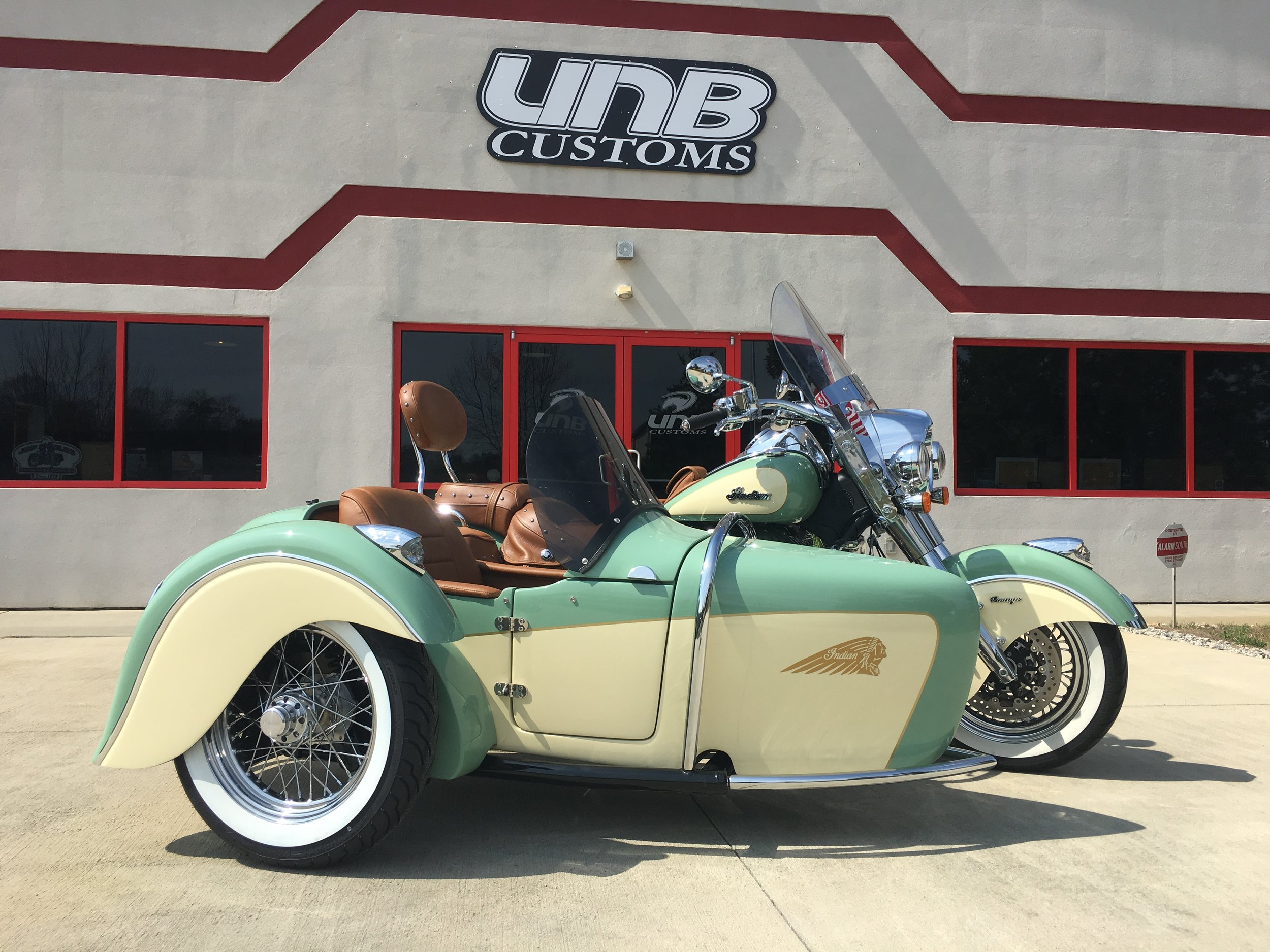 Indian with Heritage Sidecar