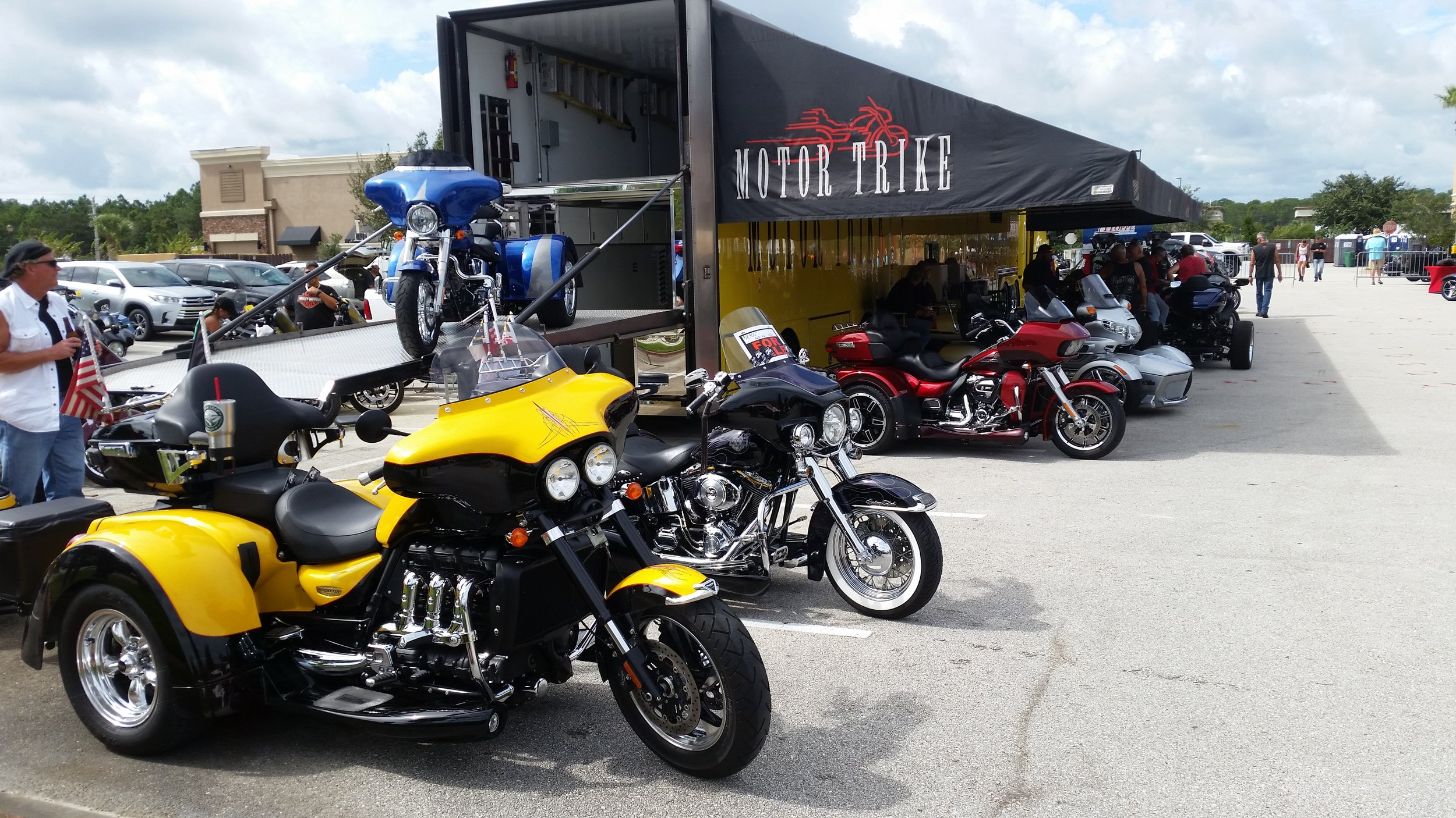 Triumph trike at Daytona Bike Week