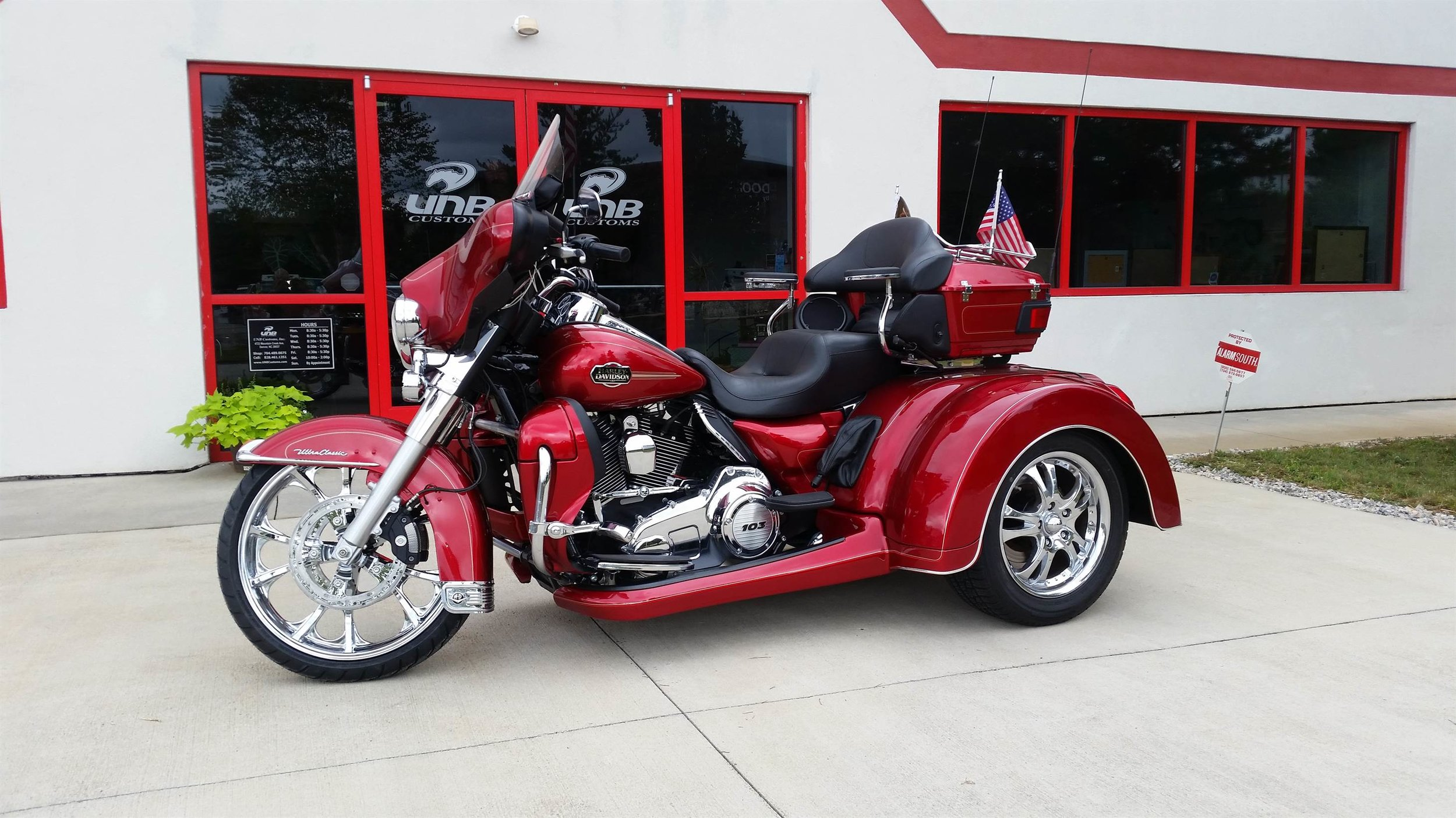 2013 Ultra Classic Roadsmith trike red