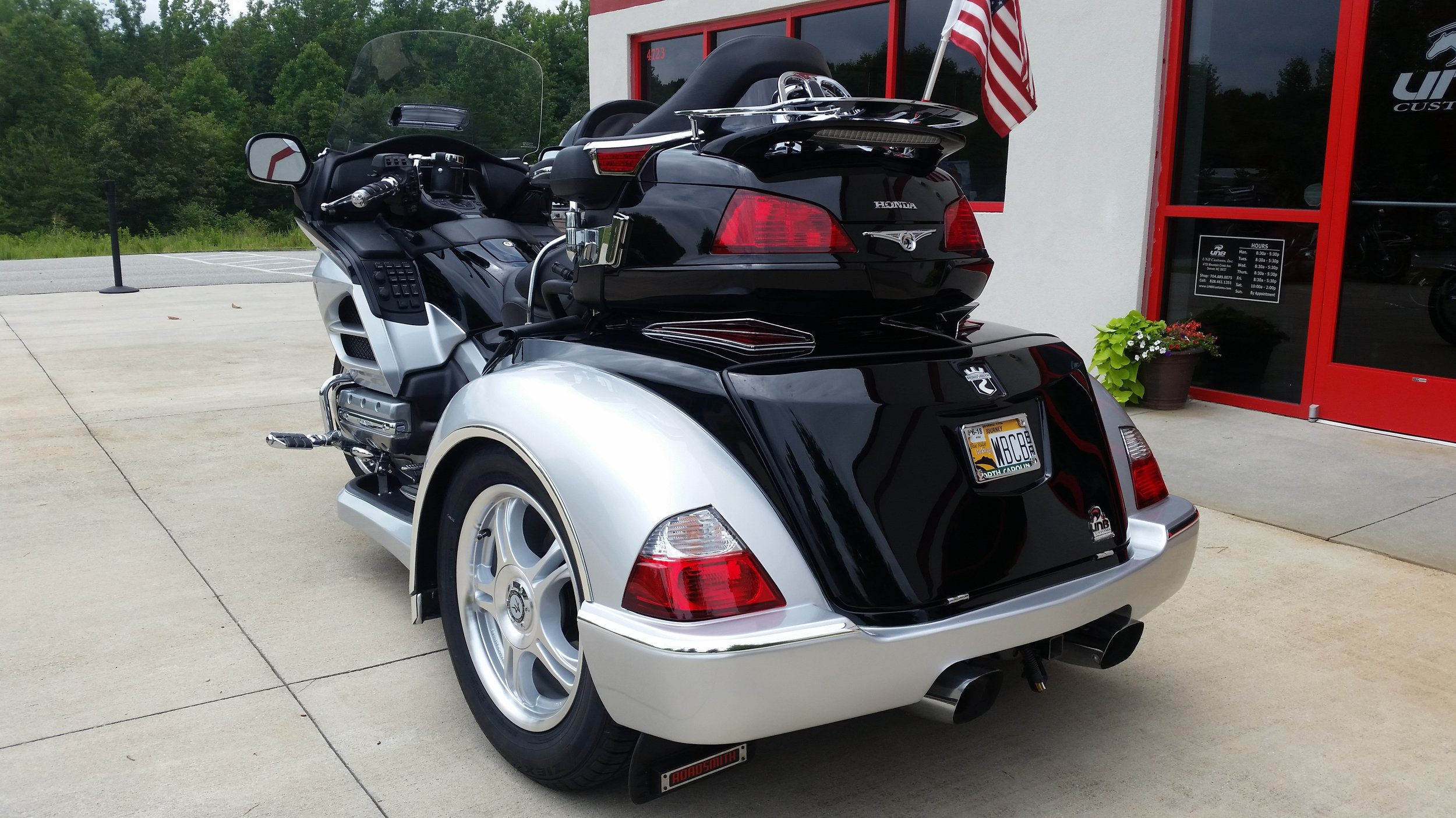 2012 Honda GL1800 Roadsmith trike black and silver rear