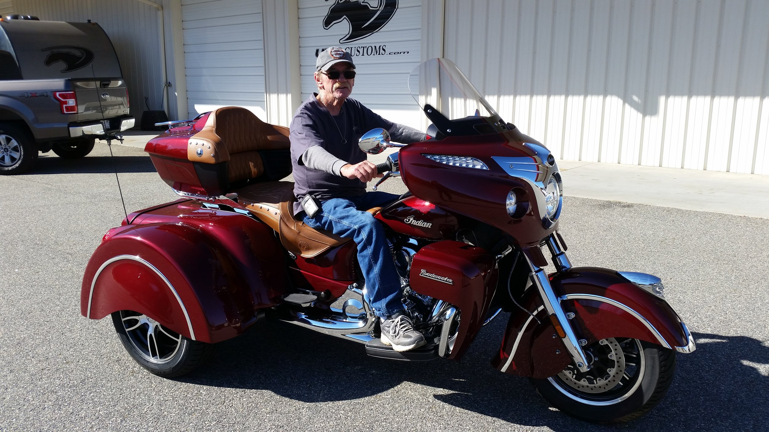 Indian trike red