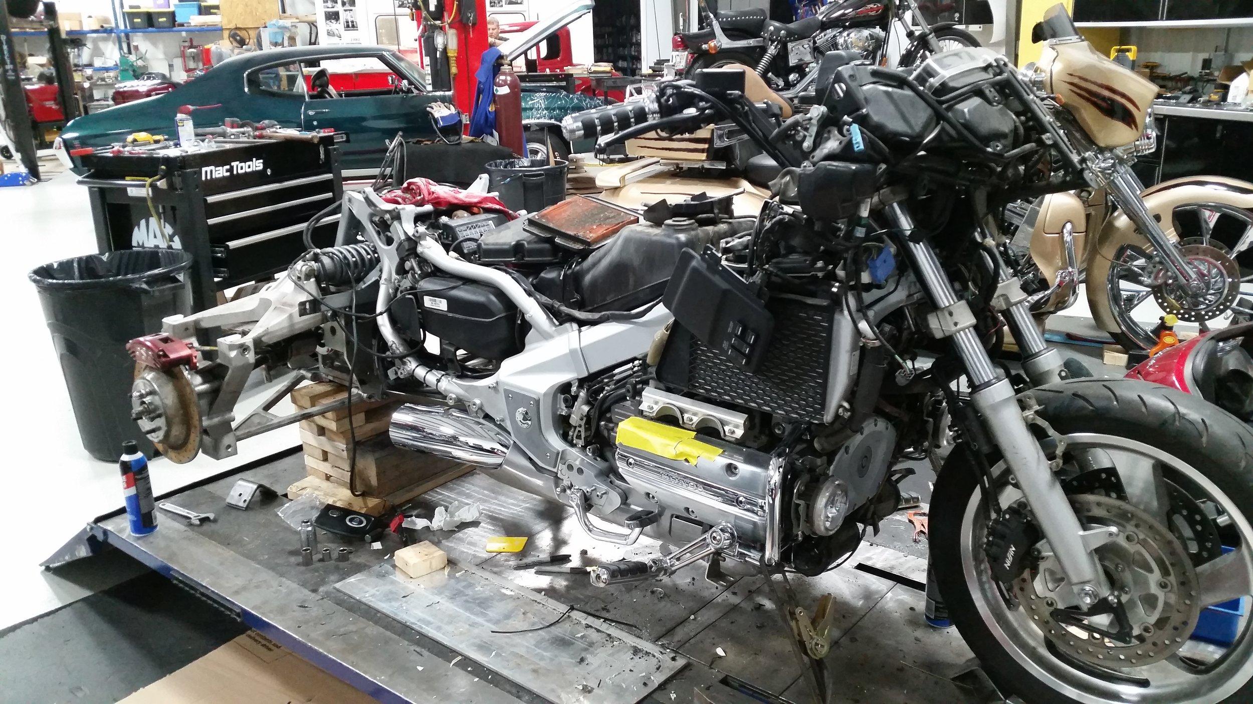 Goldwing trike repair process