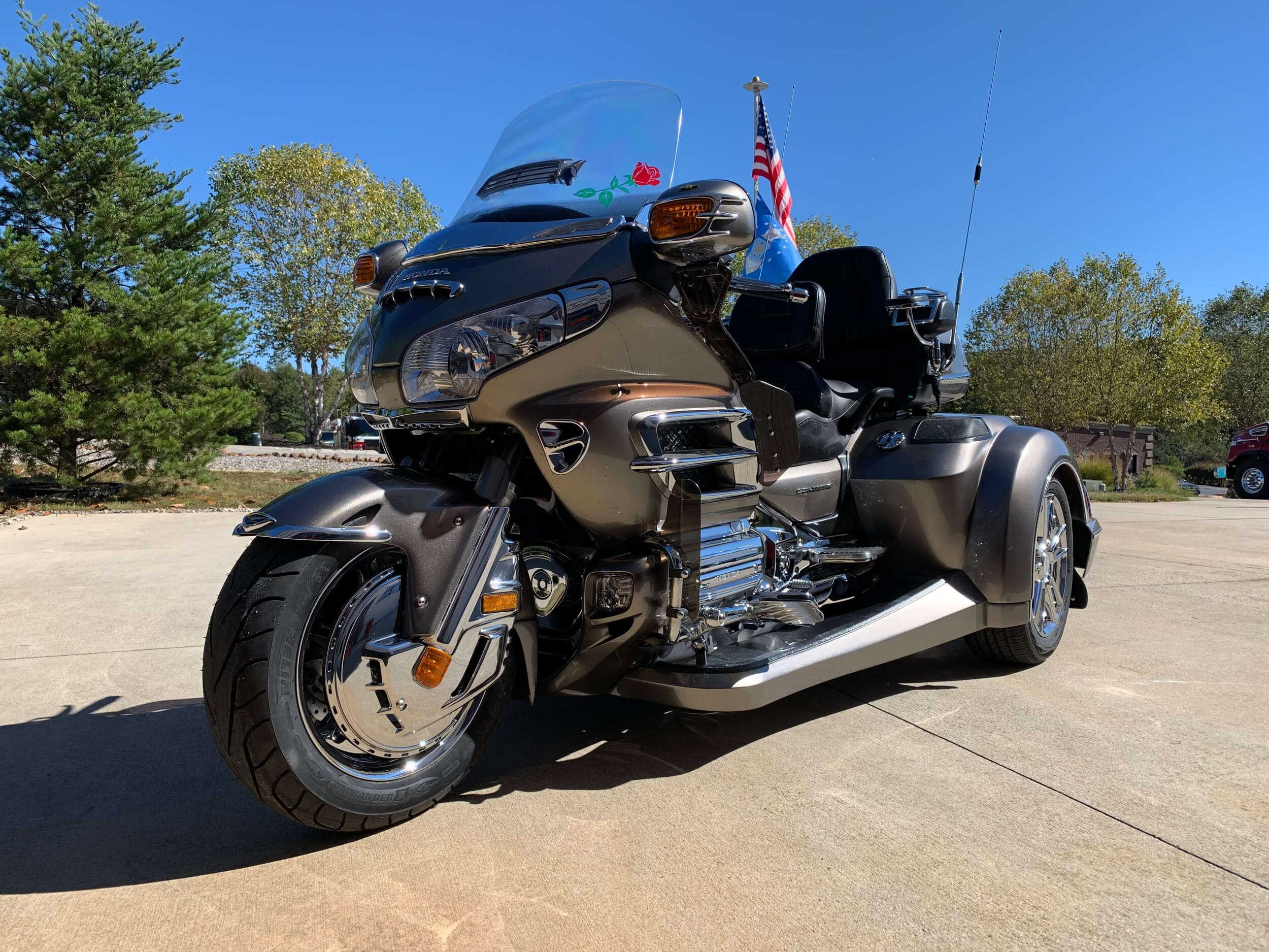 Custom Goldwing Trike independent suspension