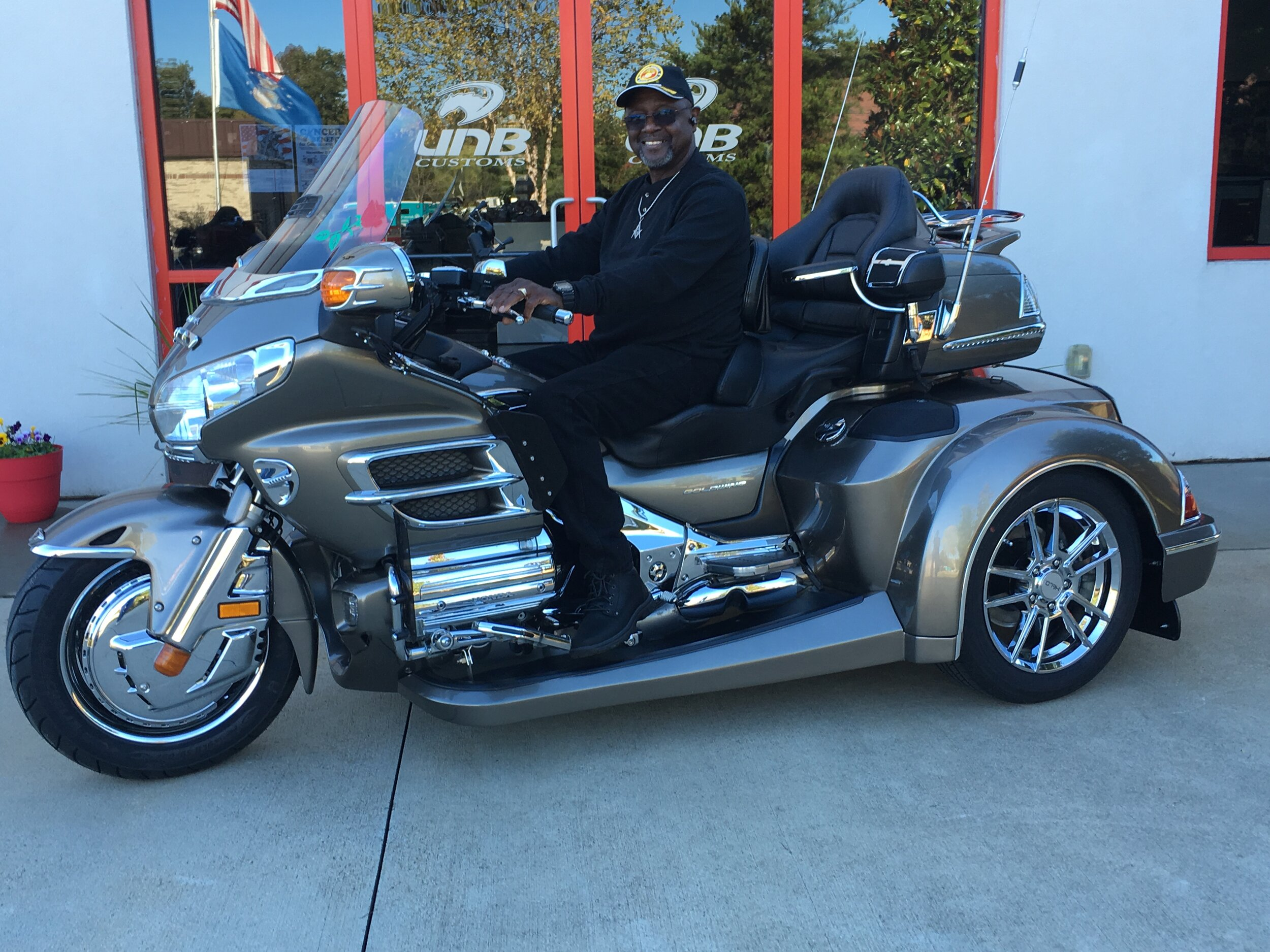 Moses with custom goldwing trike