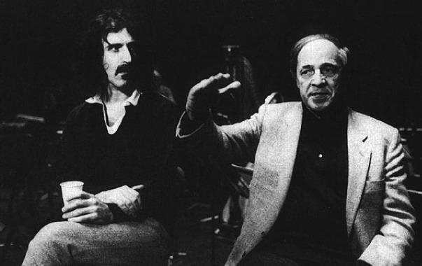 Frank Zappa with Pierre Boulez
