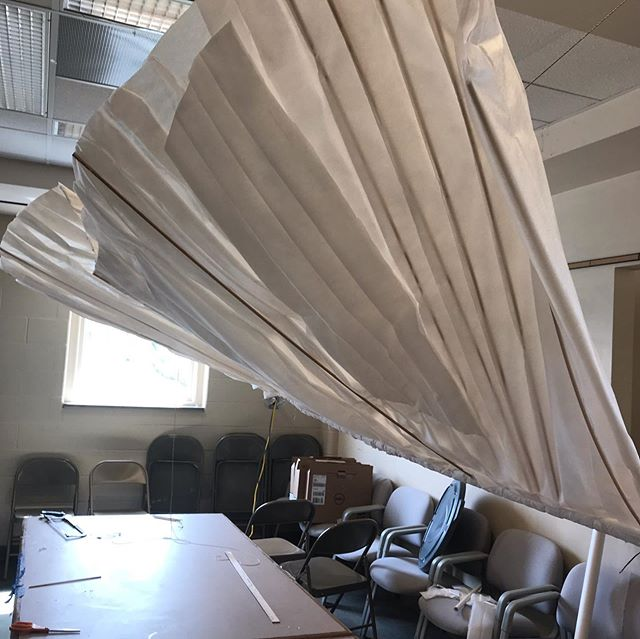 I'm feeling like Orville Wright!! Making 9' angel wings for a party at the library next Saturday night. If you like booze and books and want to order wine or beer from a library circulation desk, let me know! I'll get you tickets for the event - $20ea (includes good food). The event supports technology at the library. ...I'll just pray that these wings don't fall on your head!