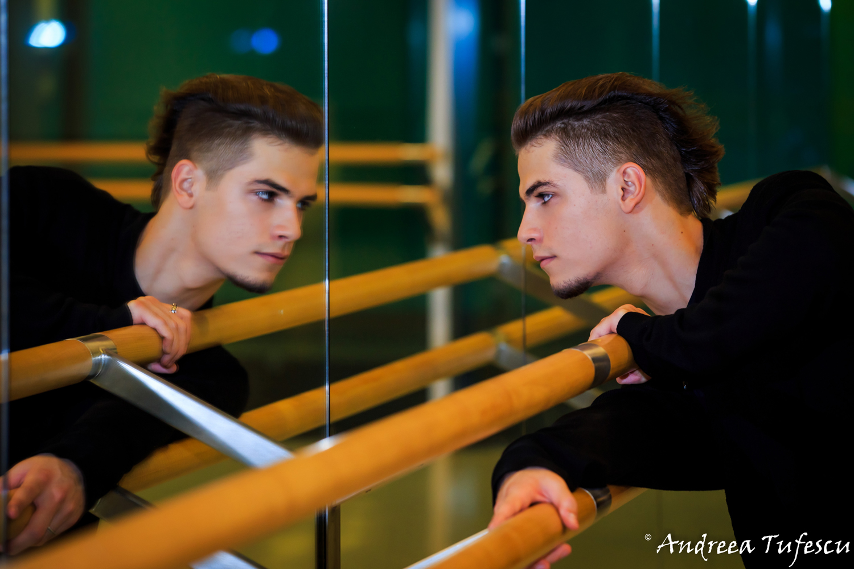 Portrait of Romanian dancer Cosmin Vasile by London photographer Andreea Tufescu