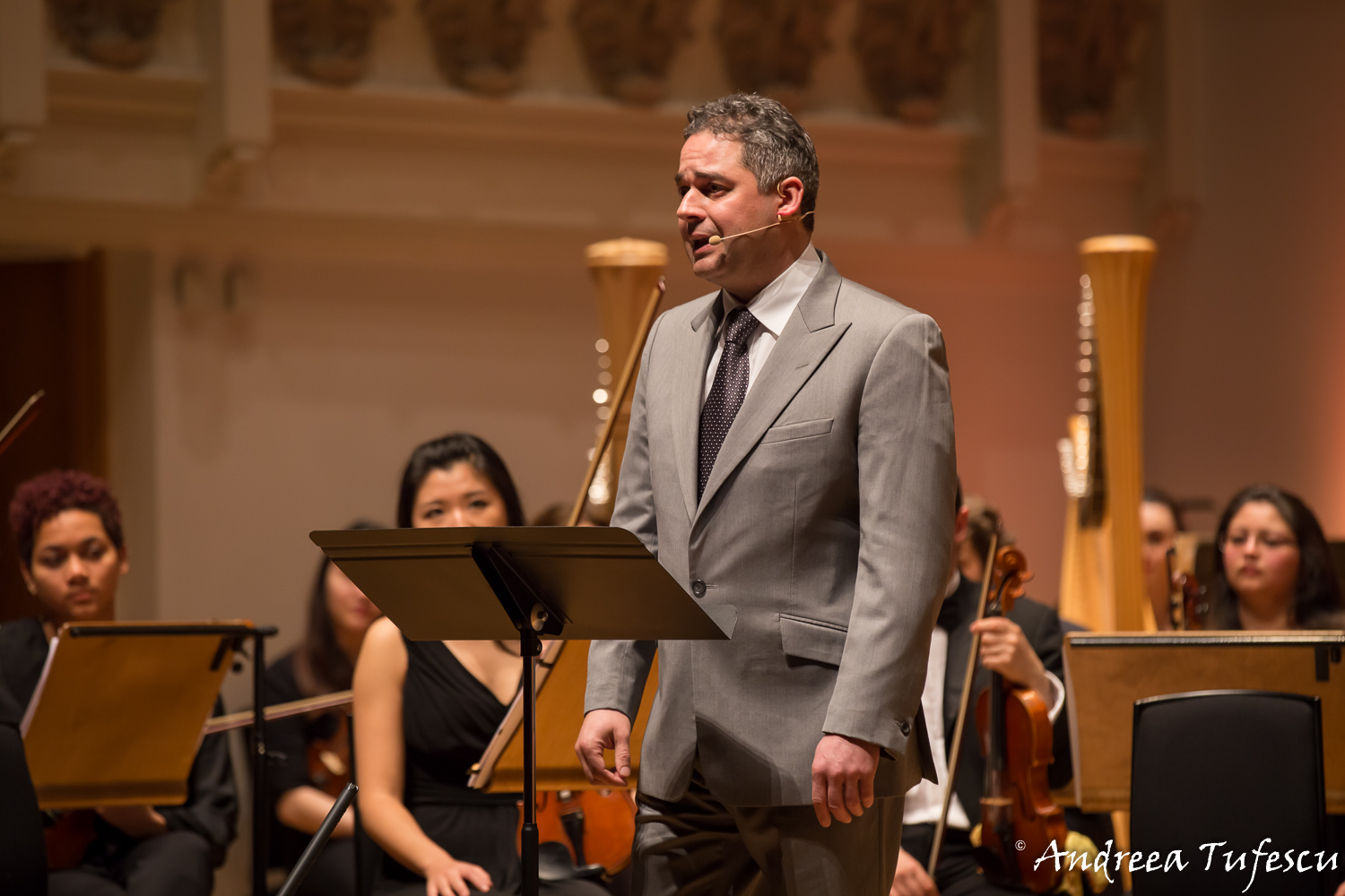 Classical concert photography - presenter of Light of Music event