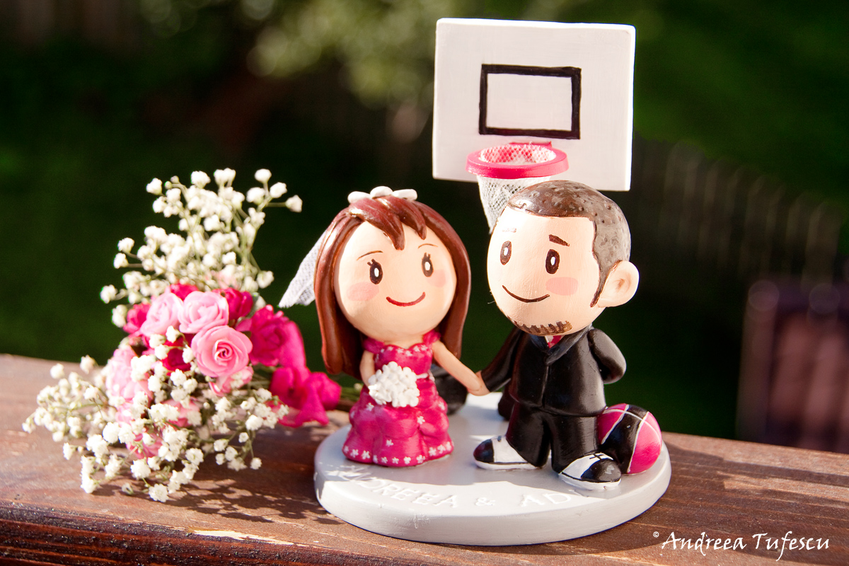Alternative Wedding Details cake topper A & A