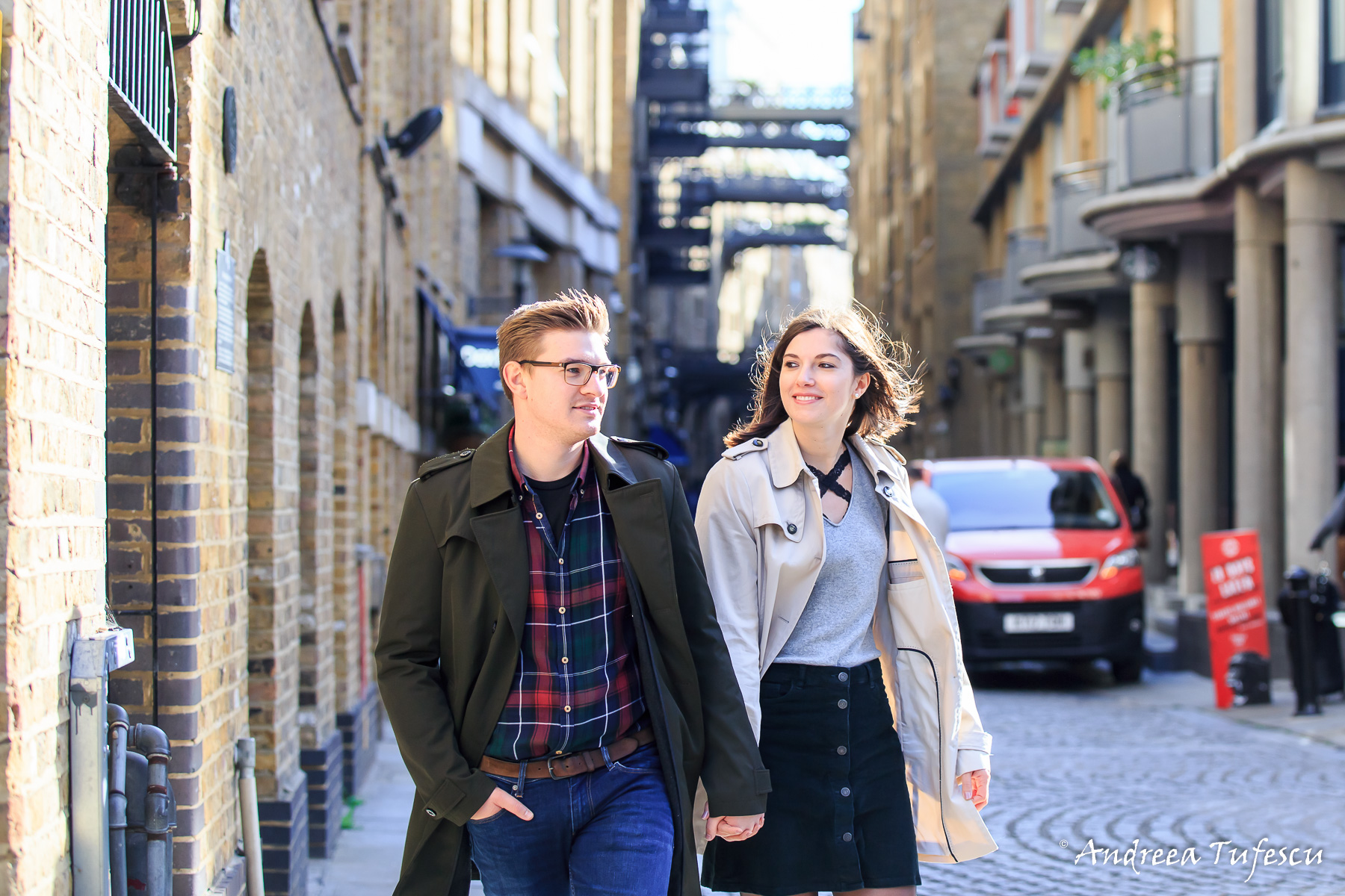 Sabrina & Timo Couple Photoshoot Central London - images by Andreea Tufescu