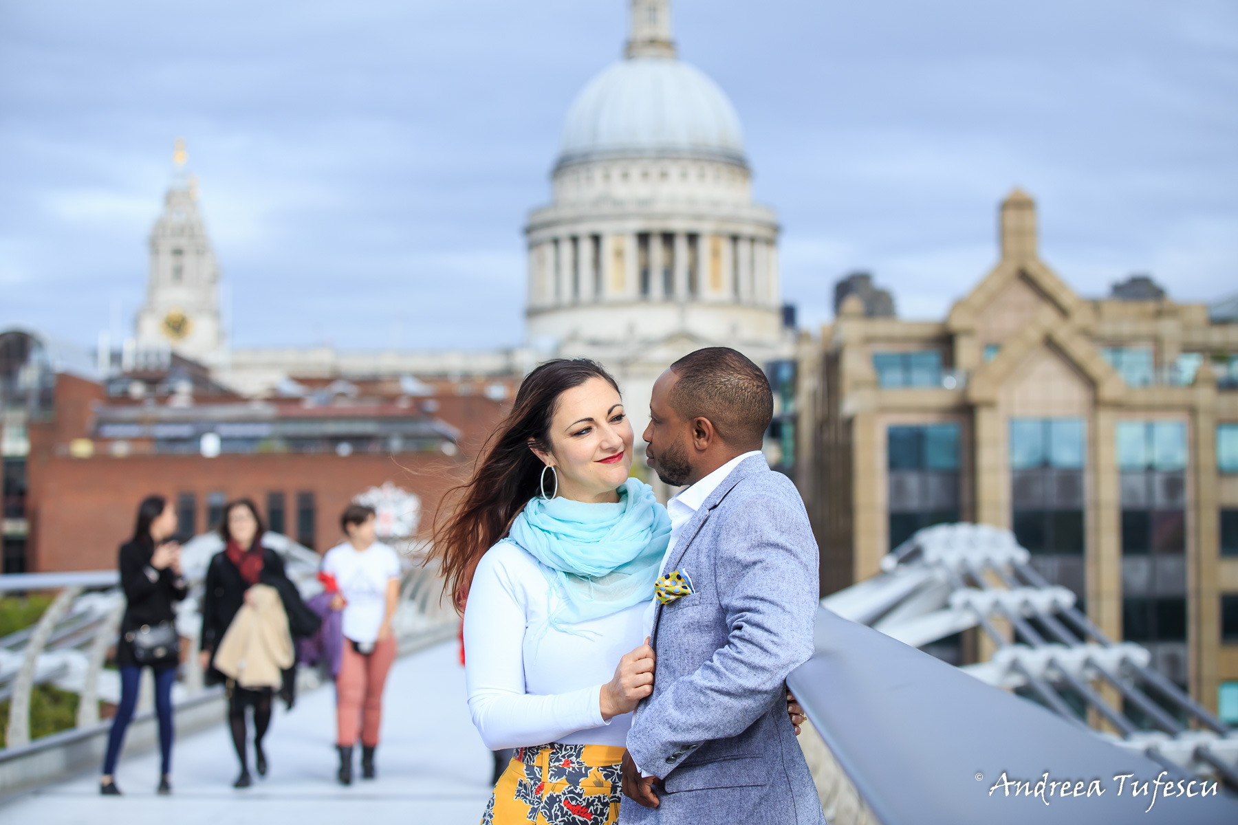 Engagement Photoshoot Central London St Paul's D & S