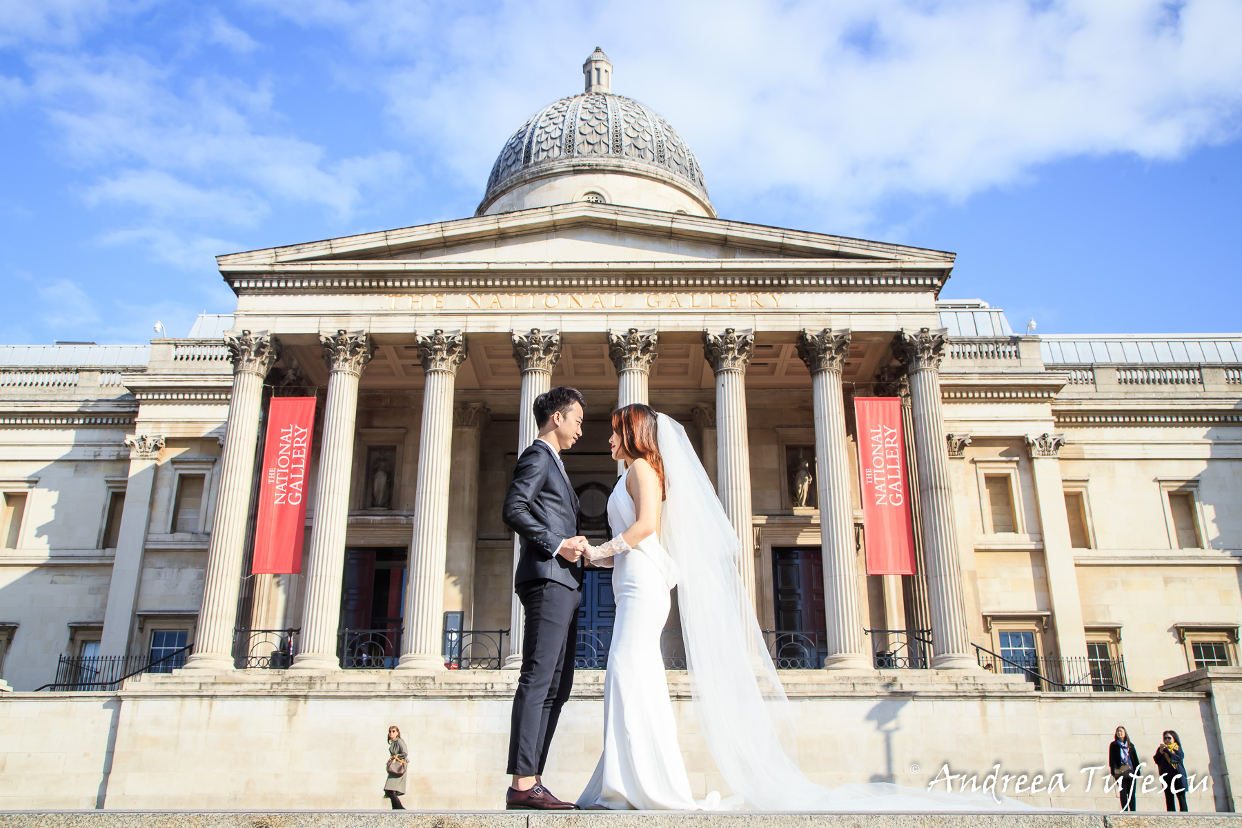 London Engagement Photography by Andreea Tufescu - C & E PreWedding Photoshoot Central London Trafalgar Square C & E