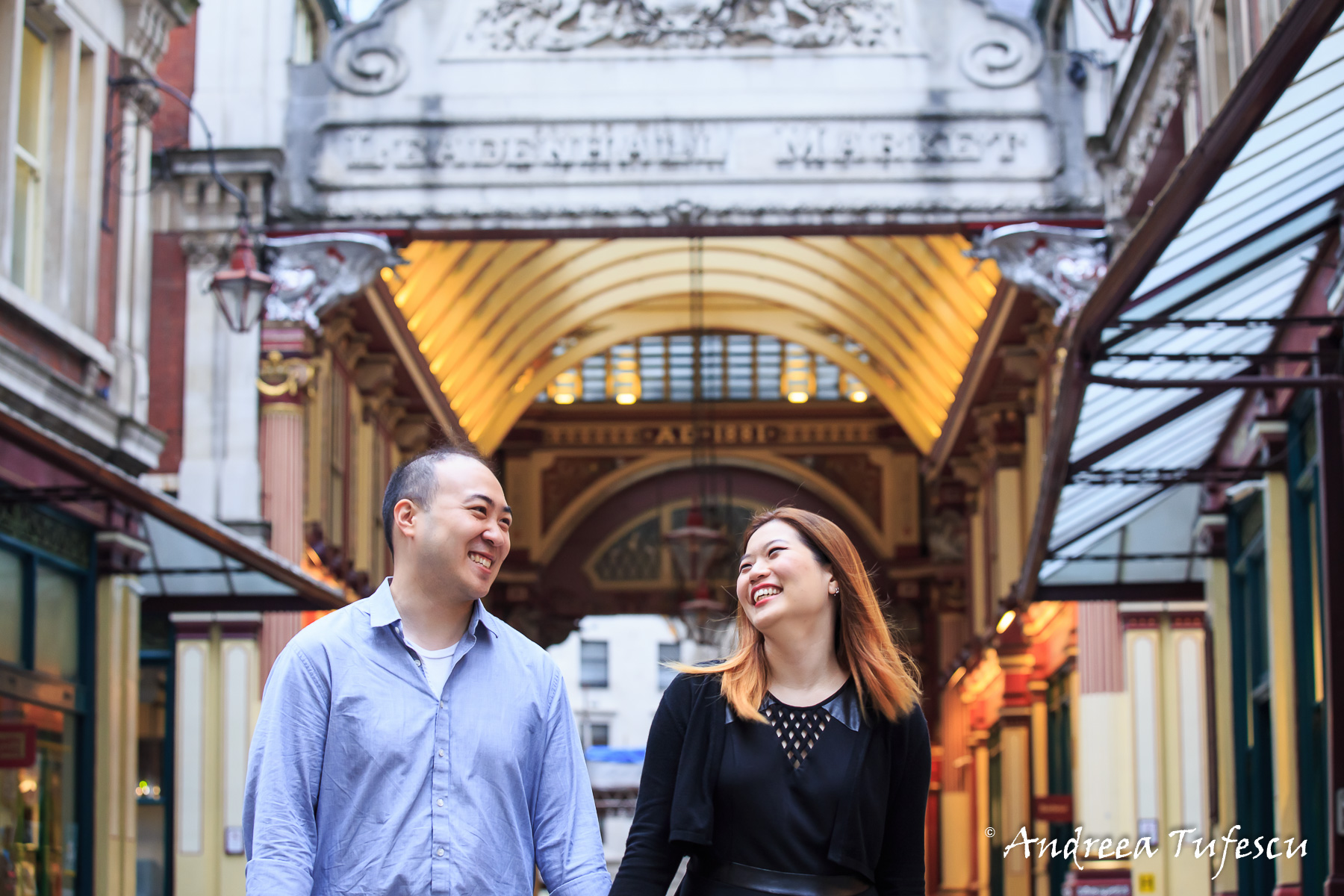 Proposal Photoshoot Central London Leadenhall Market H & R