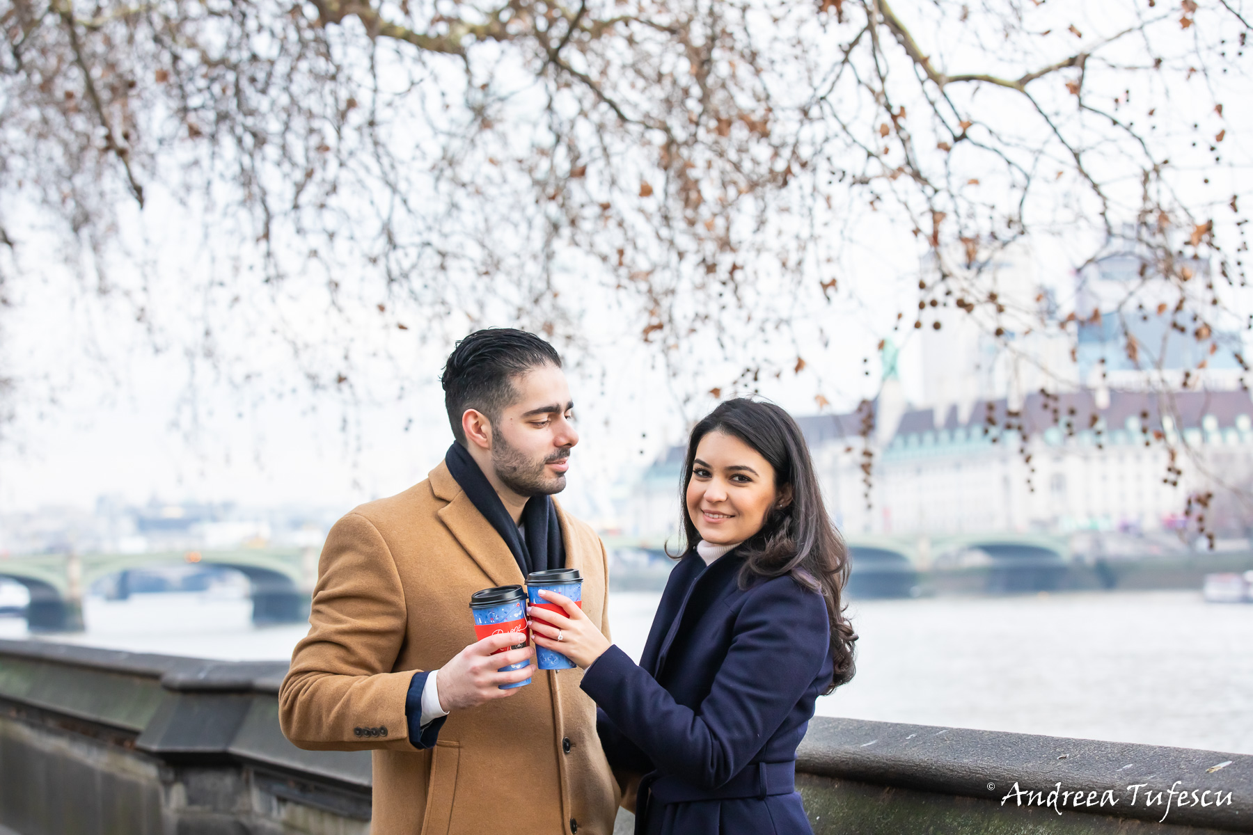Engagement Photoshoot Central London Westminster Y & H